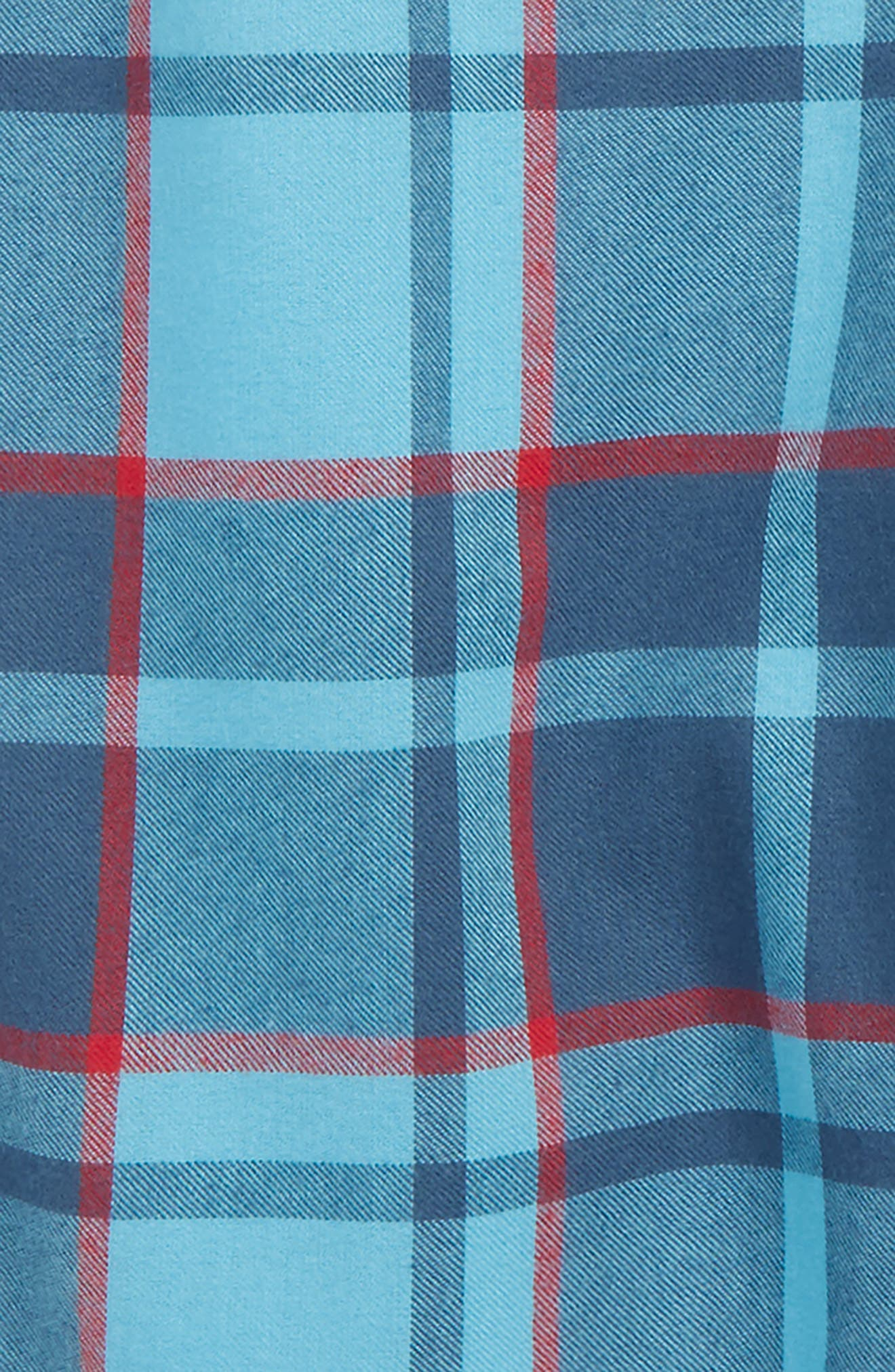 Flannel Shorts,                             Alternate thumbnail 2, color,                             Blue River- Navy Plaid