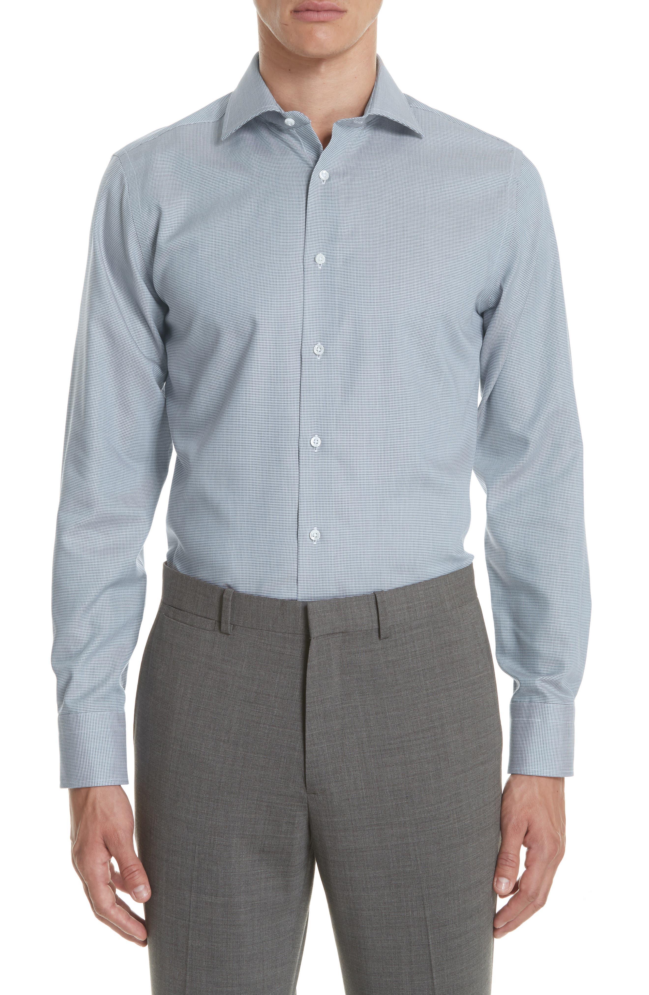 Regular Fit Solid Dress Shirt,                             Main thumbnail 1, color,                             Brown