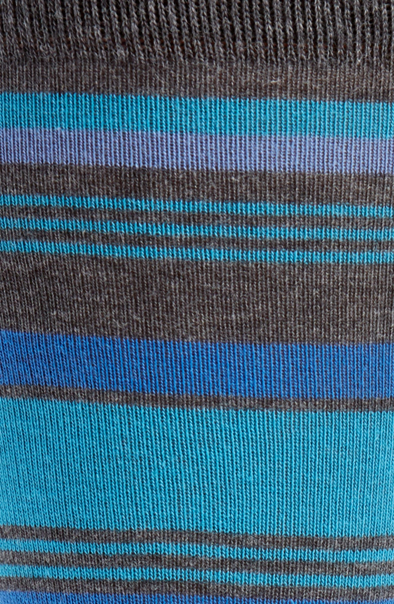Mixed Uneven Stripe Socks,                             Alternate thumbnail 2, color,                             Blue/ Charcoal