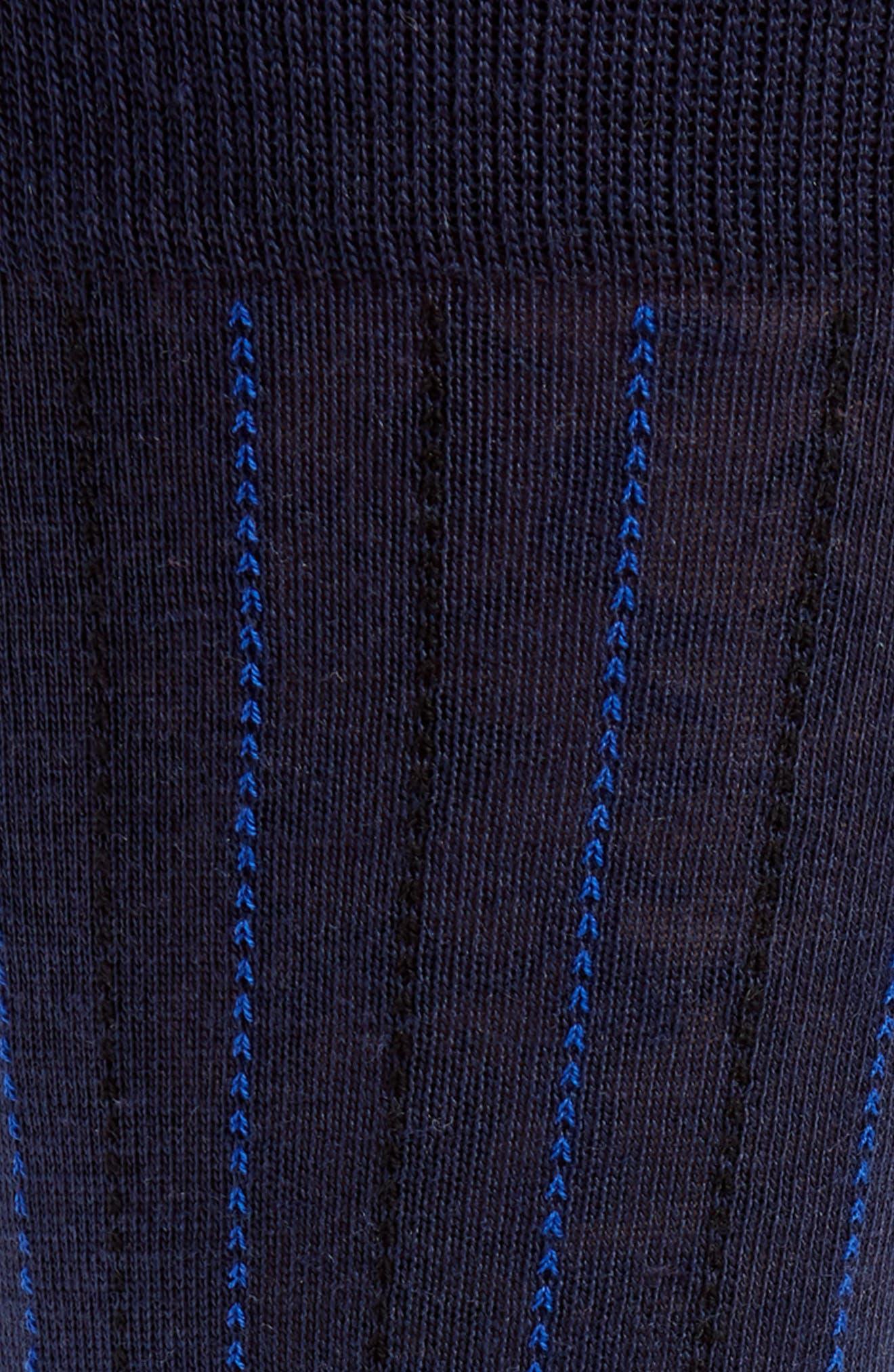 Vertical Lines Socks,                             Alternate thumbnail 2, color,                             Navy
