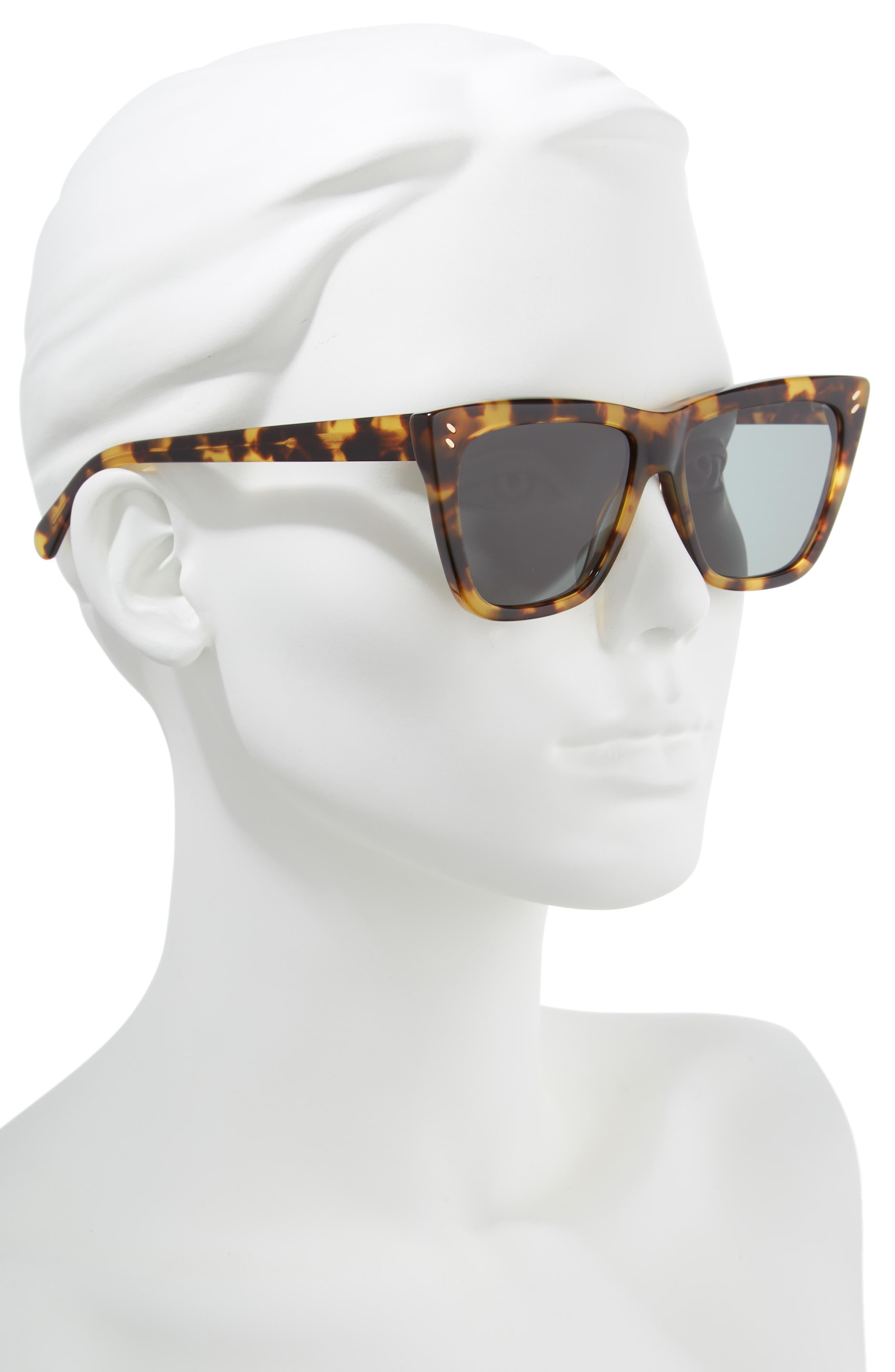 55mm Polarized Sunglasses,                             Alternate thumbnail 2, color,                             Medium Havana