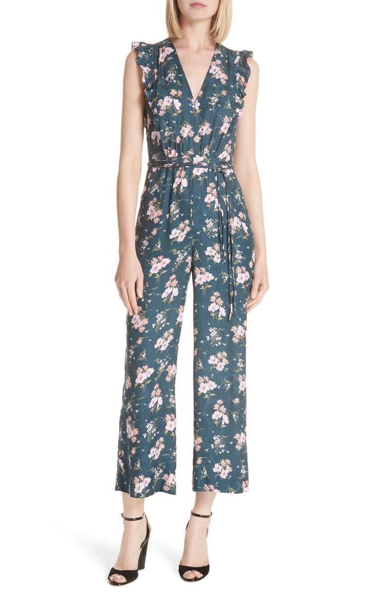 Emilia Floral Sleeveless Silk Jumpsuit