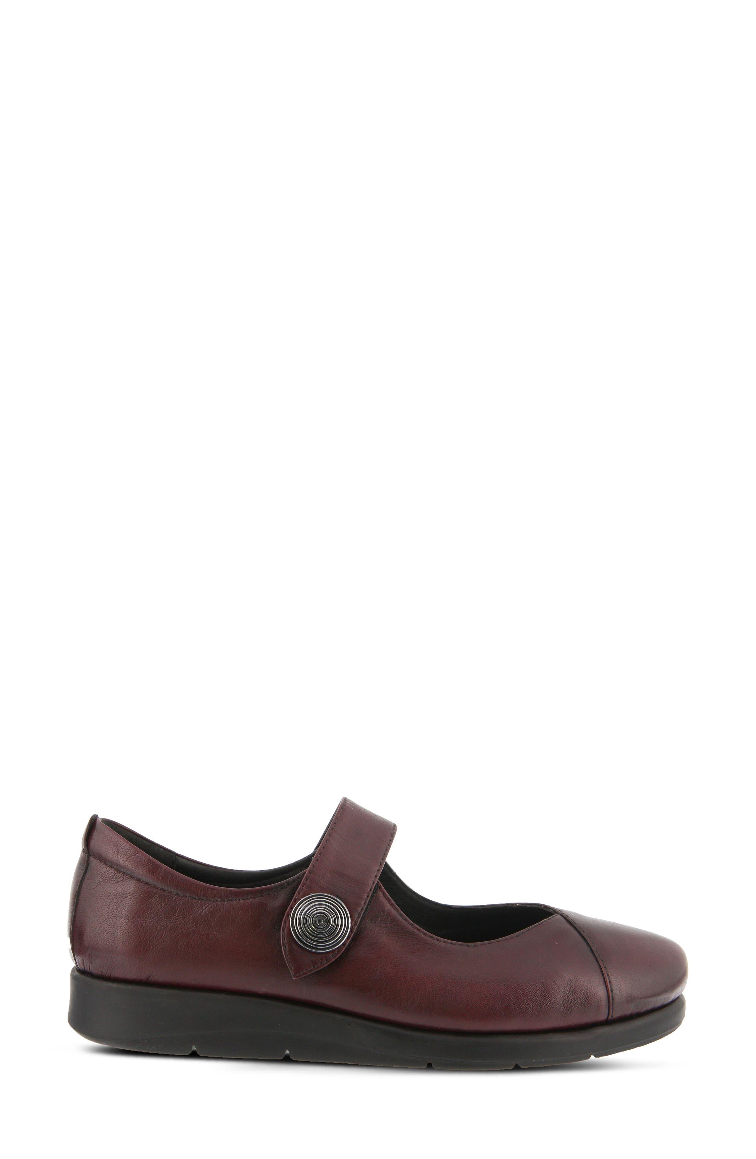 Zemira Flat,                             Alternate thumbnail 2, color,                             Bordeaux Leather