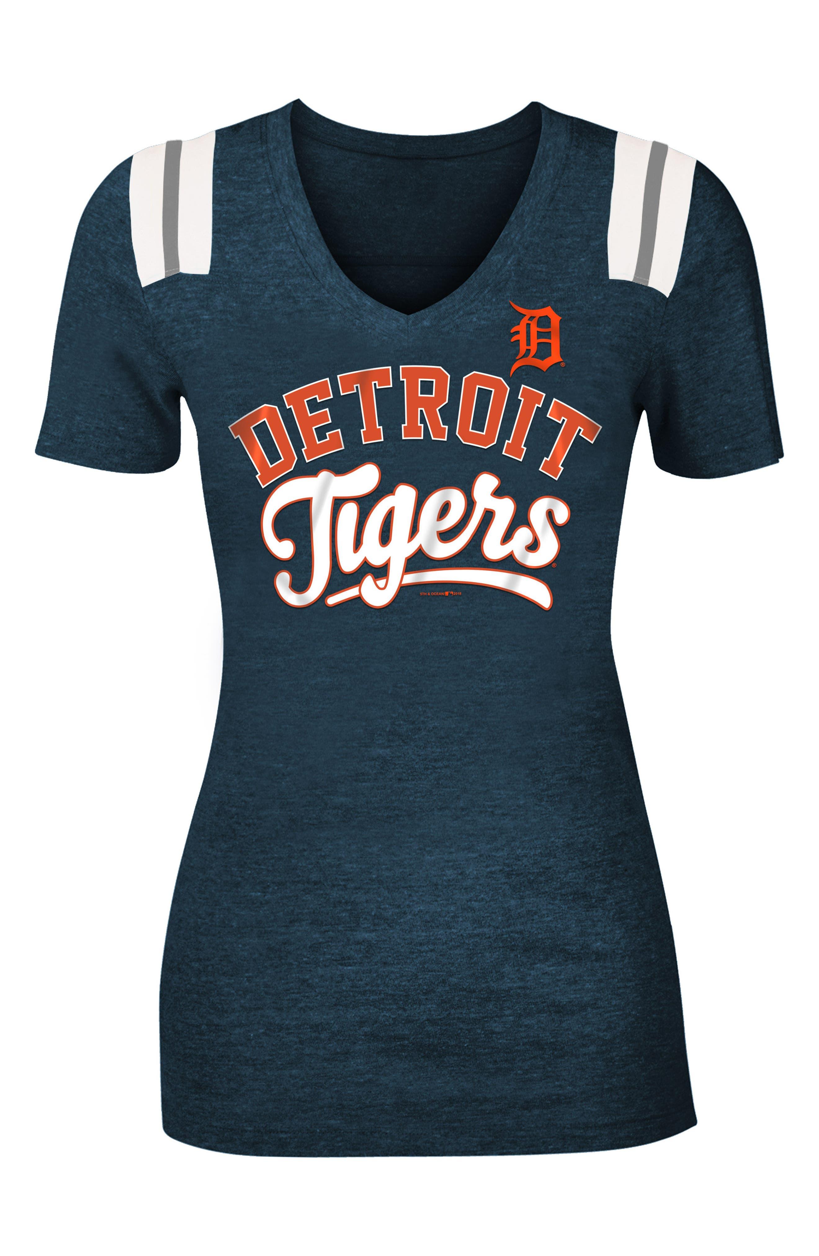 MLB Tee,                         Main,                         color, Navy Tigers