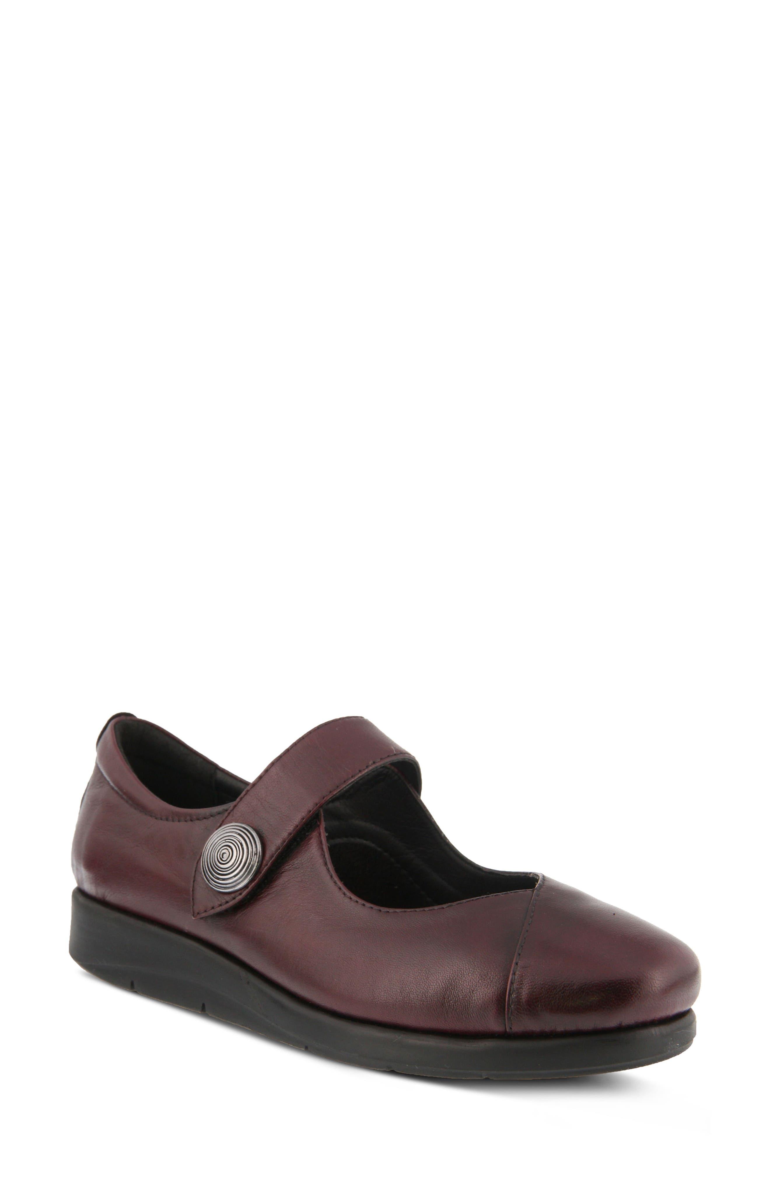 Zemira Flat,                         Main,                         color, Bordeaux Leather