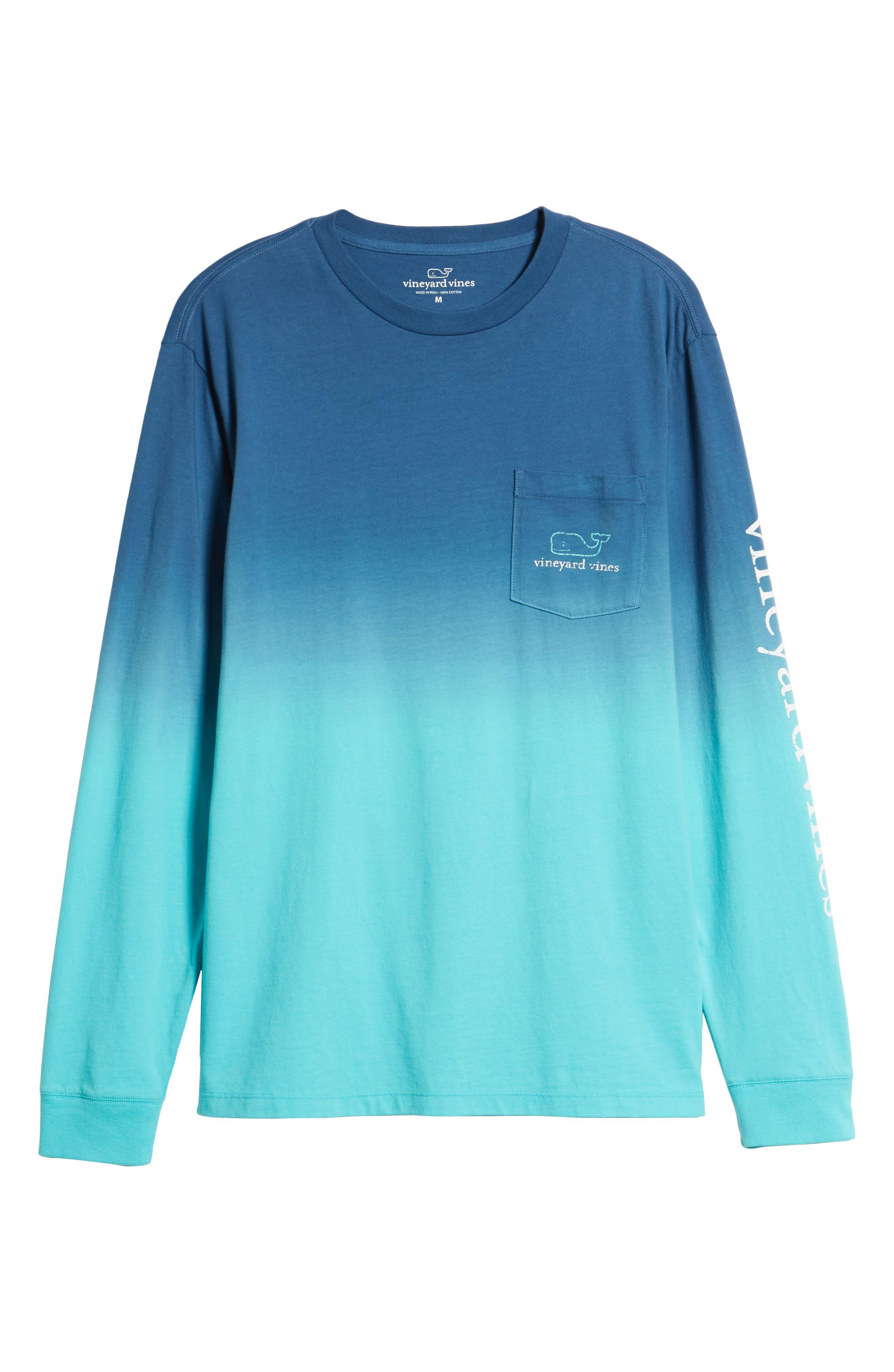 Dip Dye Two-Tone Whale Pocket T-Shirt,                             Alternate thumbnail 6, color,                             Moonshine