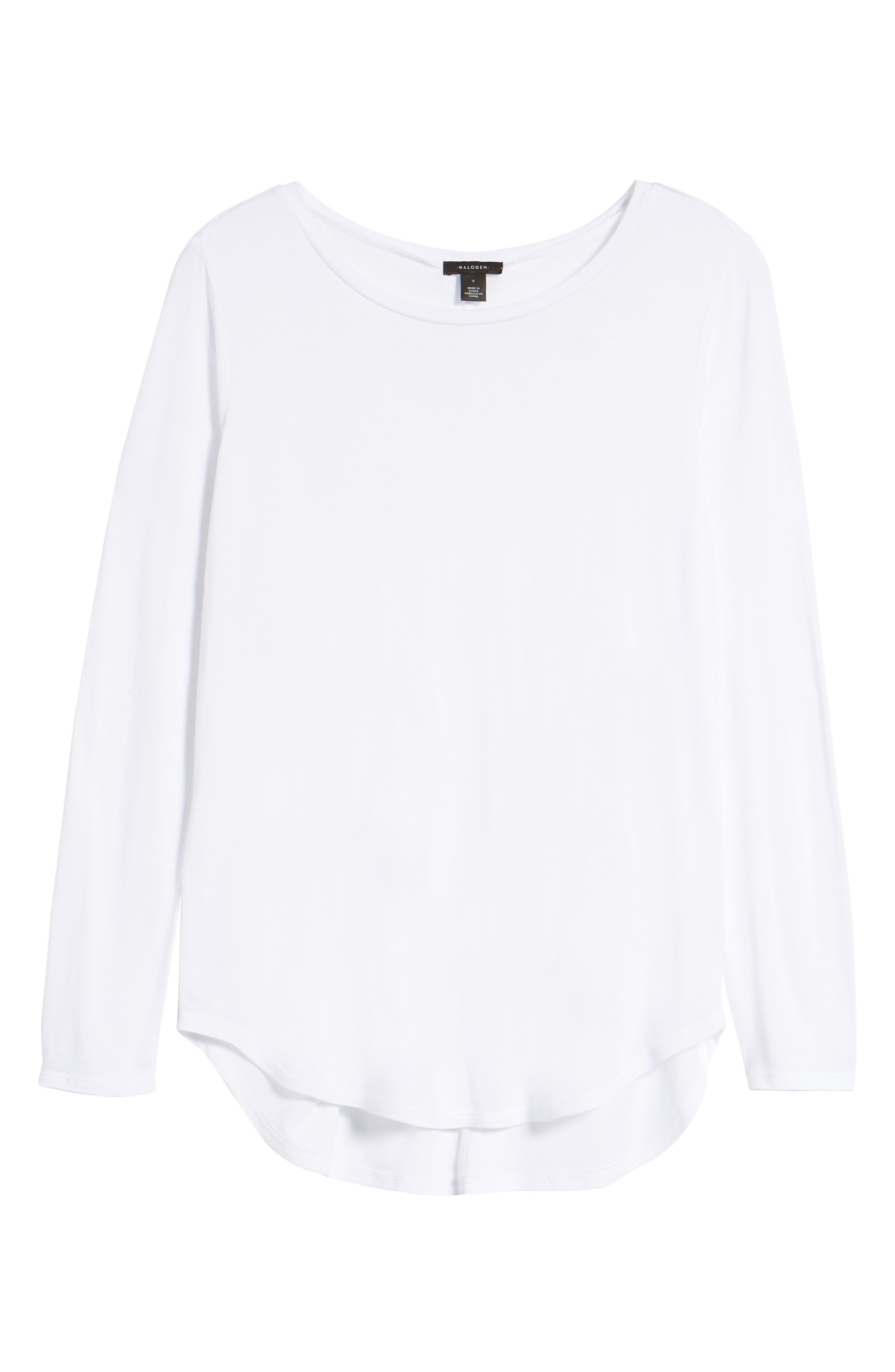 Shirttail Tee,                         Main,                         color, Ivory Cloud