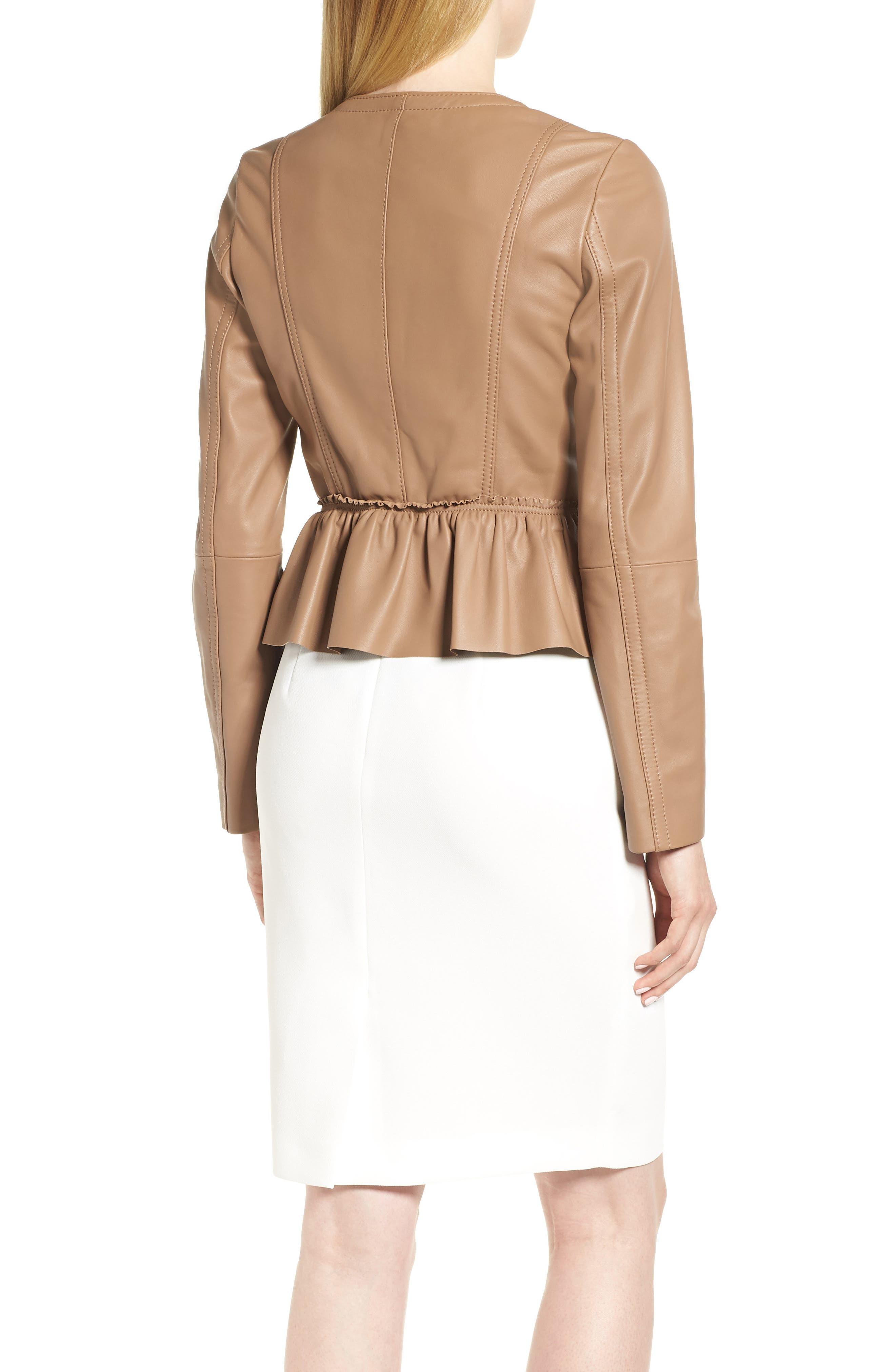 Sahota Leather Jacket,                             Alternate thumbnail 2, color,                             Warm Clay