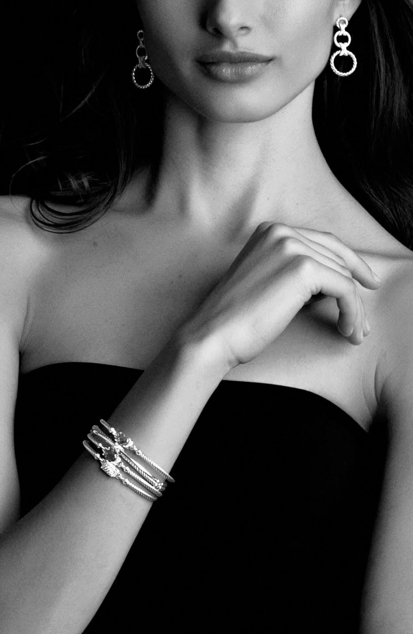 'Petite Wheaton' Bracelet with Diamonds,                             Alternate thumbnail 3, color,                             Diamond