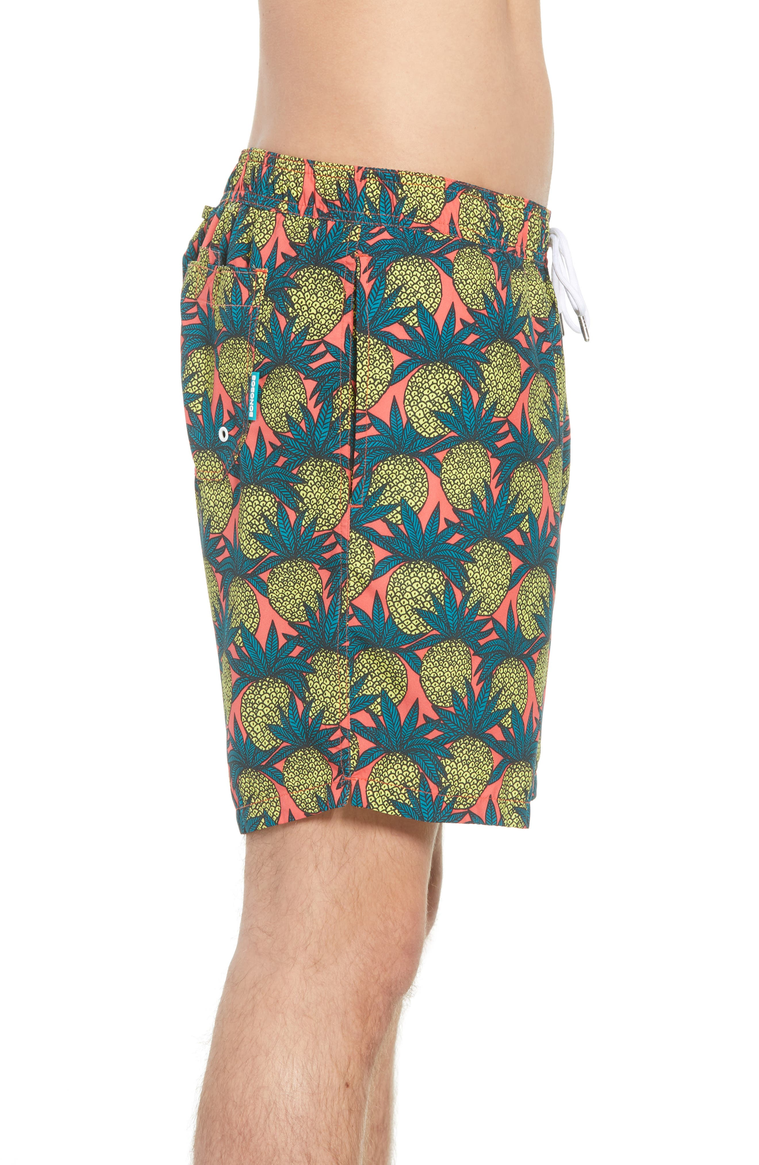 Banzai 7-Inch Swim Trunks,                             Alternate thumbnail 3, color,                             Pineapple Fields
