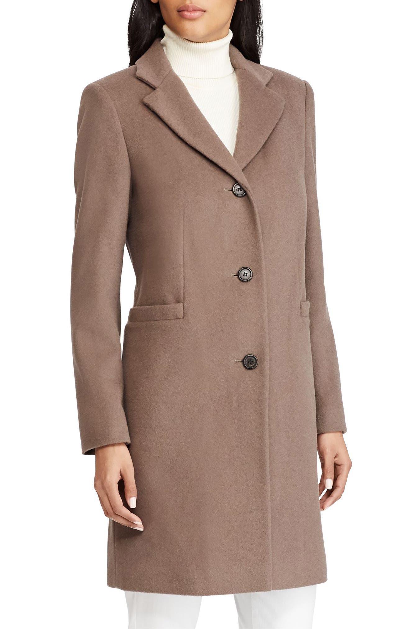 Lauren Ralph Lauren Paige Wool Blend Reefer Coat (Regular \u0026 Petite)