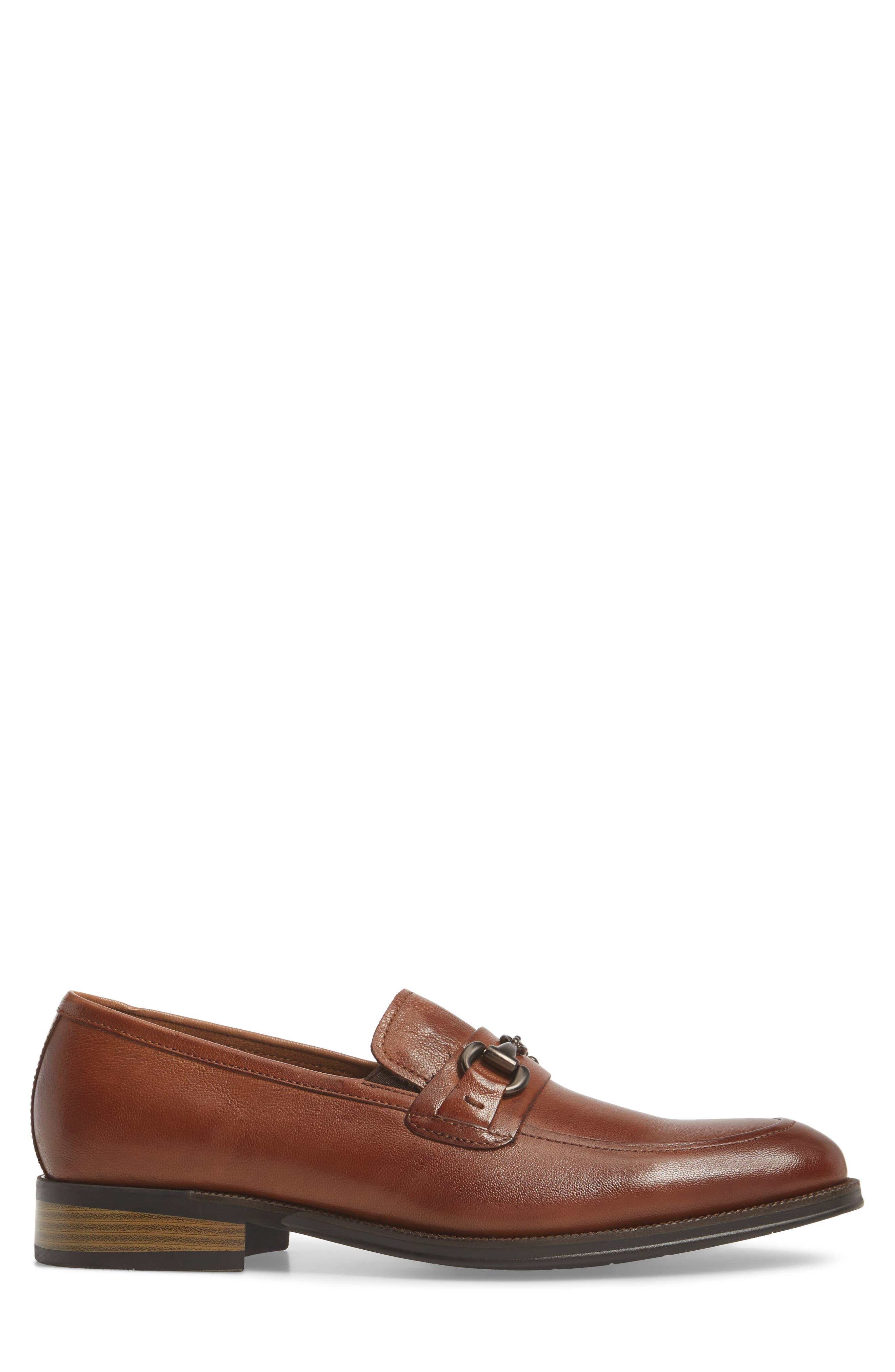 Brock Bit Loafer,                             Alternate thumbnail 3, color,                             Cognac Leather