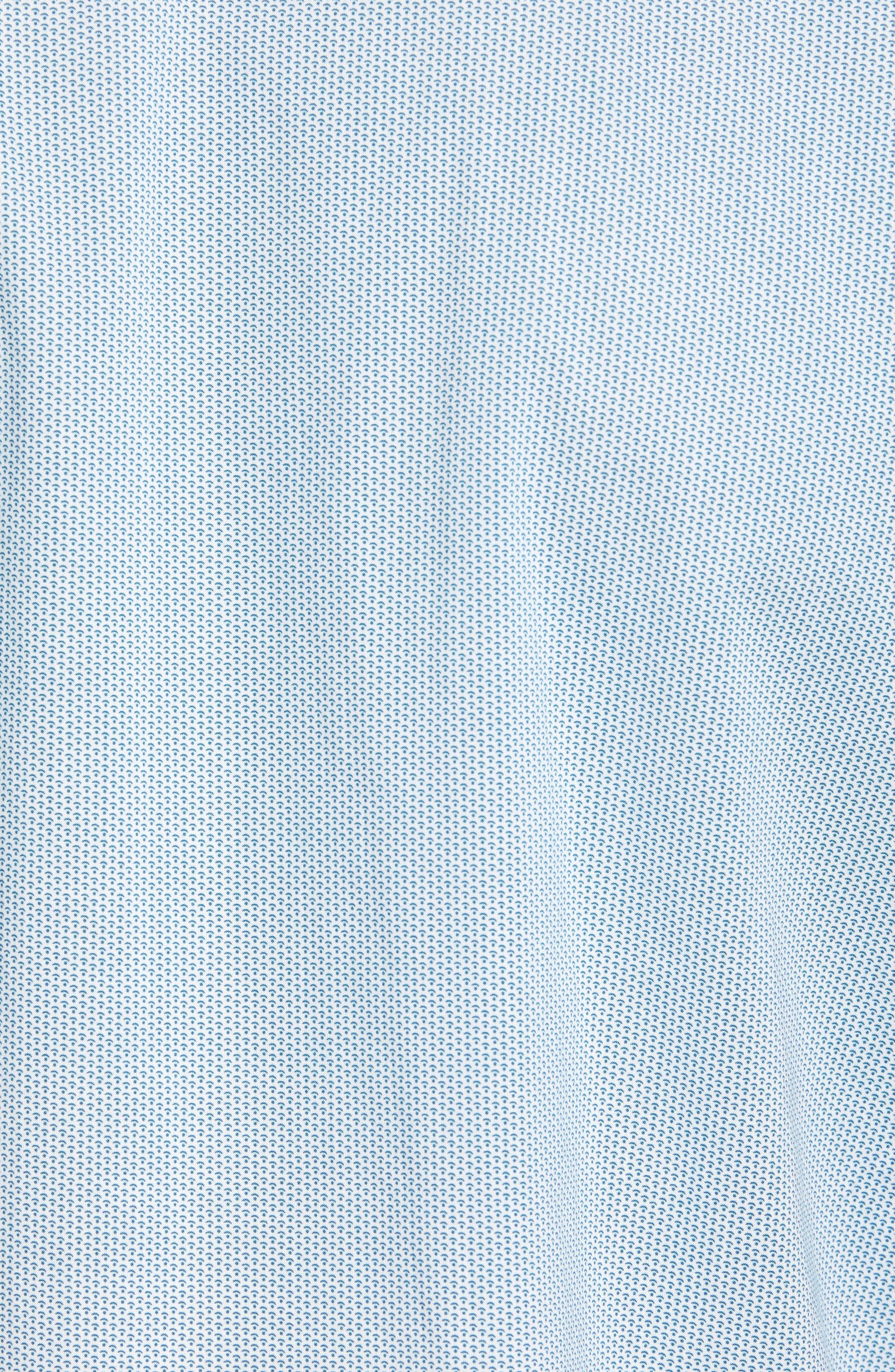 Zack Regular Fit Mini Print Sport Shirt,                             Alternate thumbnail 5, color,                             White/ Splash
