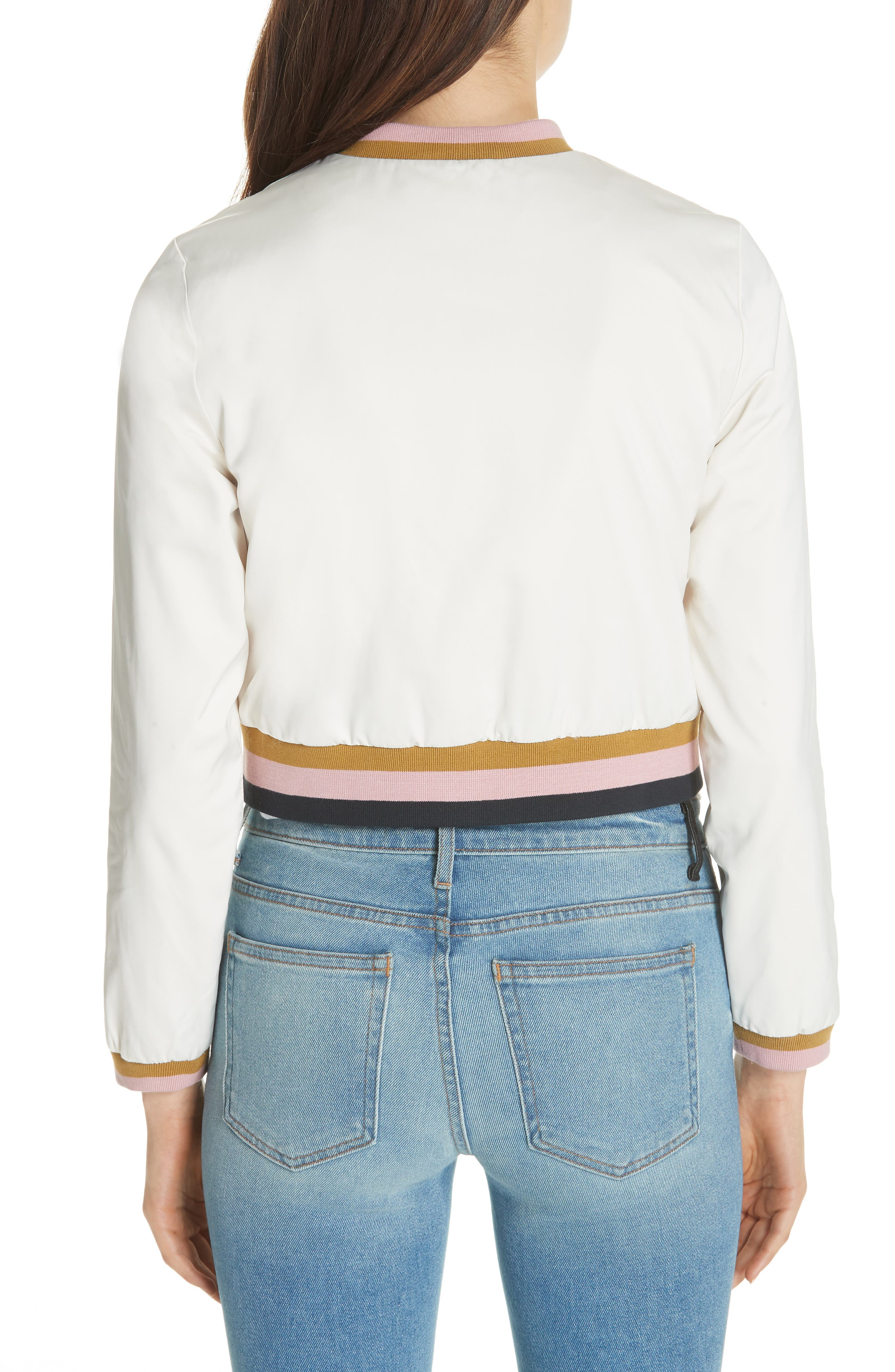 Colour by Numbers Bomber Jacket,                             Alternate thumbnail 2, color,                             Ivory