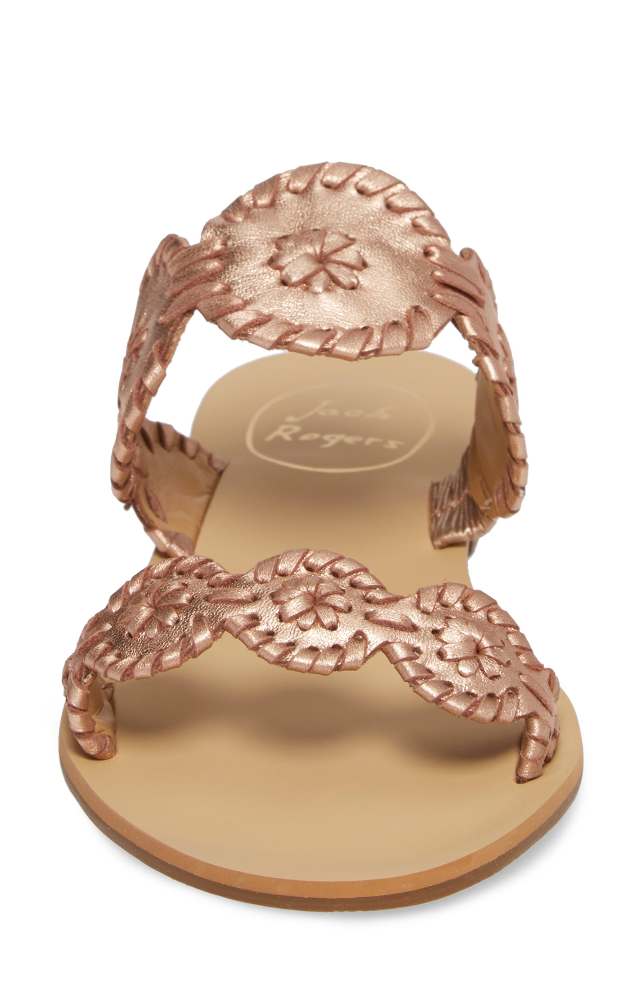 'Lauren' Sandal,                             Alternate thumbnail 4, color,                             Rose Gold Leather