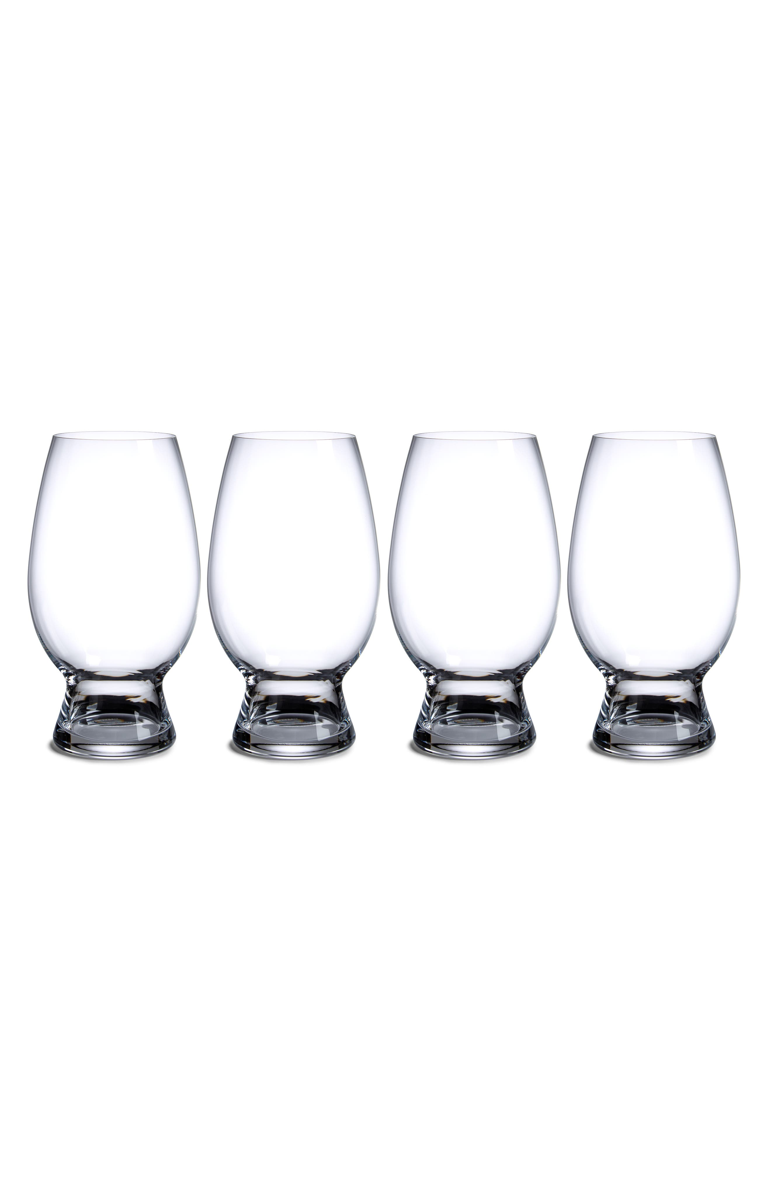 Set of 4 American Wheat Beer Glasses,                         Main,                         color, Clear