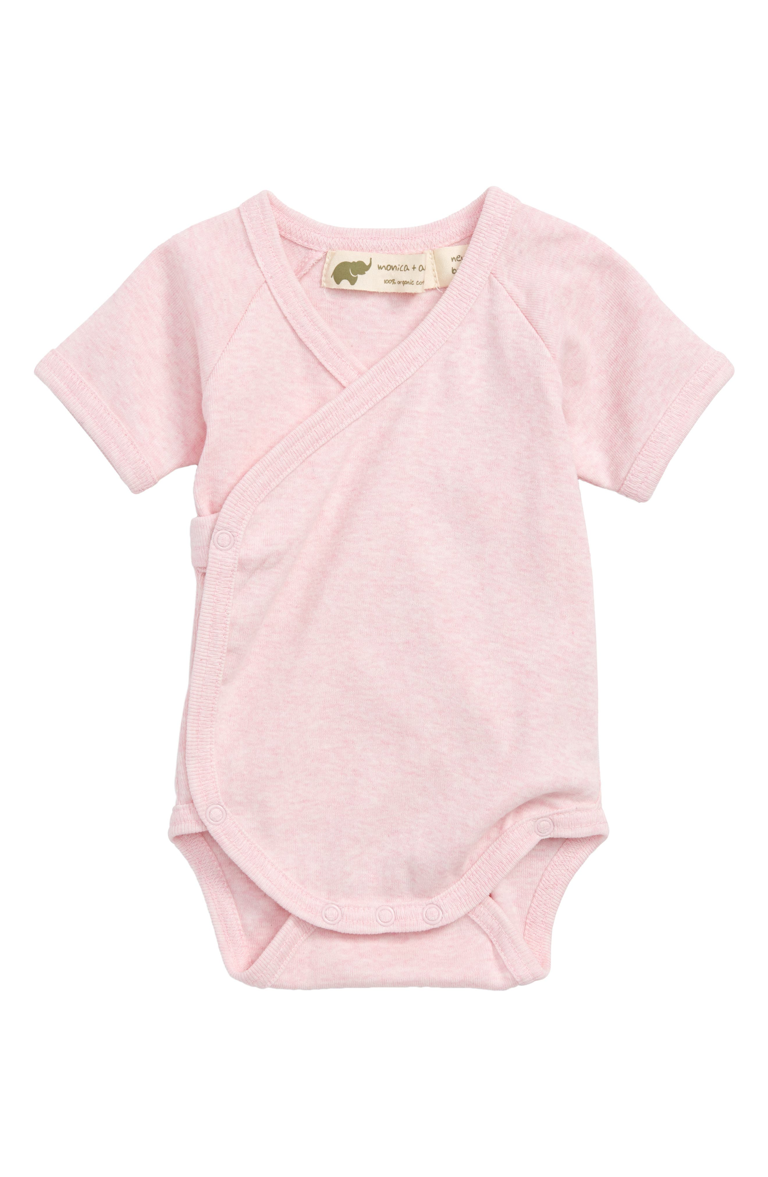 Monica + Andy Lucky Organic Cotton Wrap Bodysuit (Baby Girls)