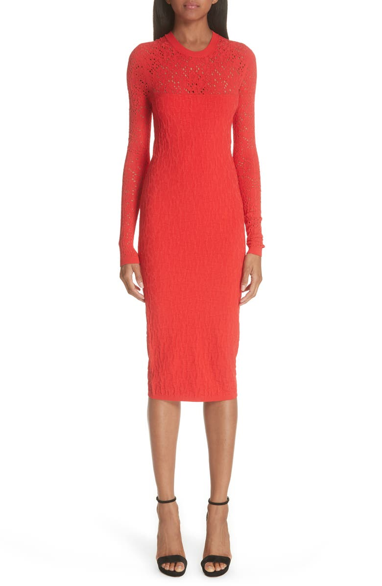 Open Knit Body-Con Dress