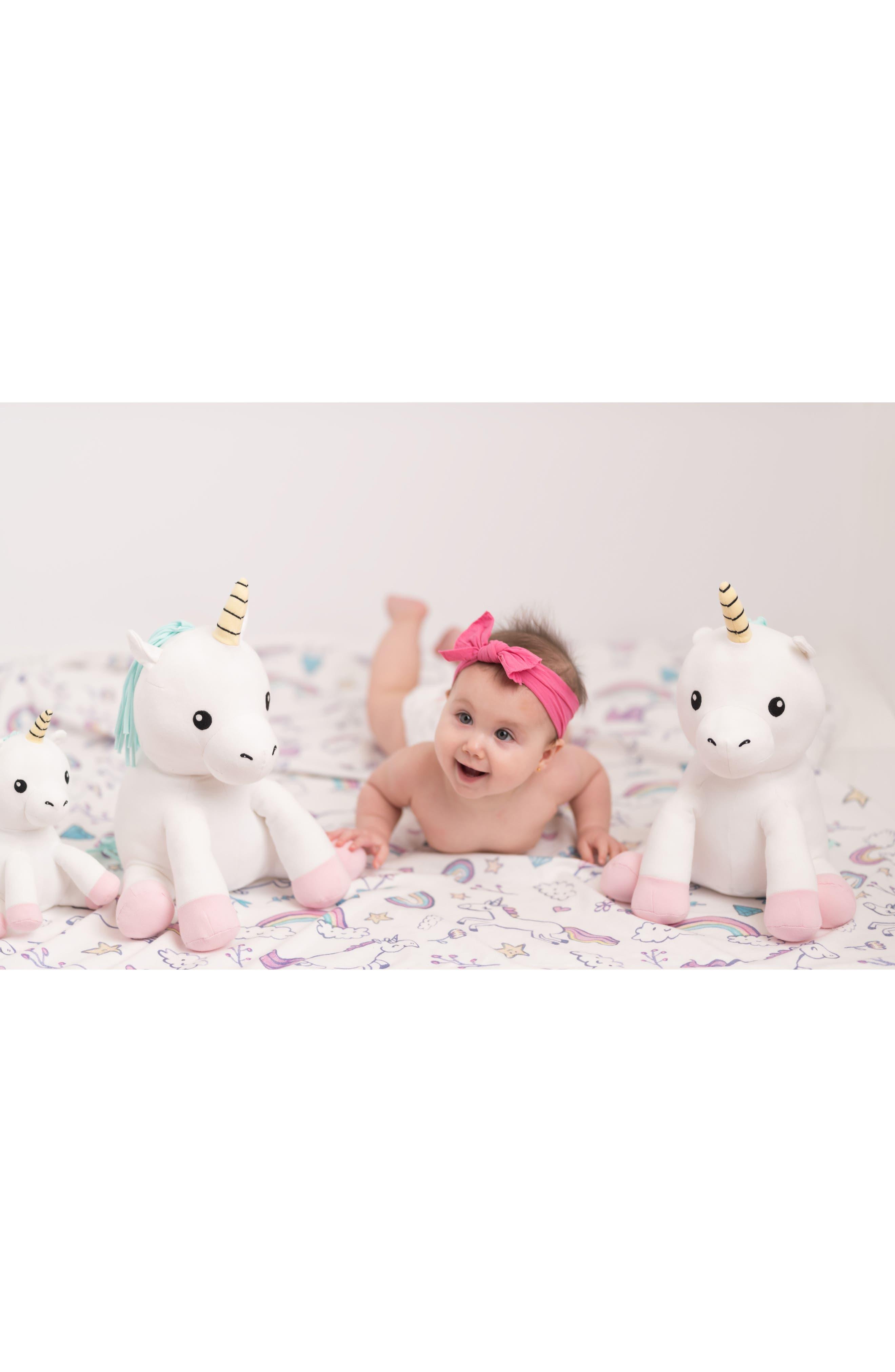 Small Cupcake Unicorn Stuffed Animal,                             Alternate thumbnail 6, color,                             White