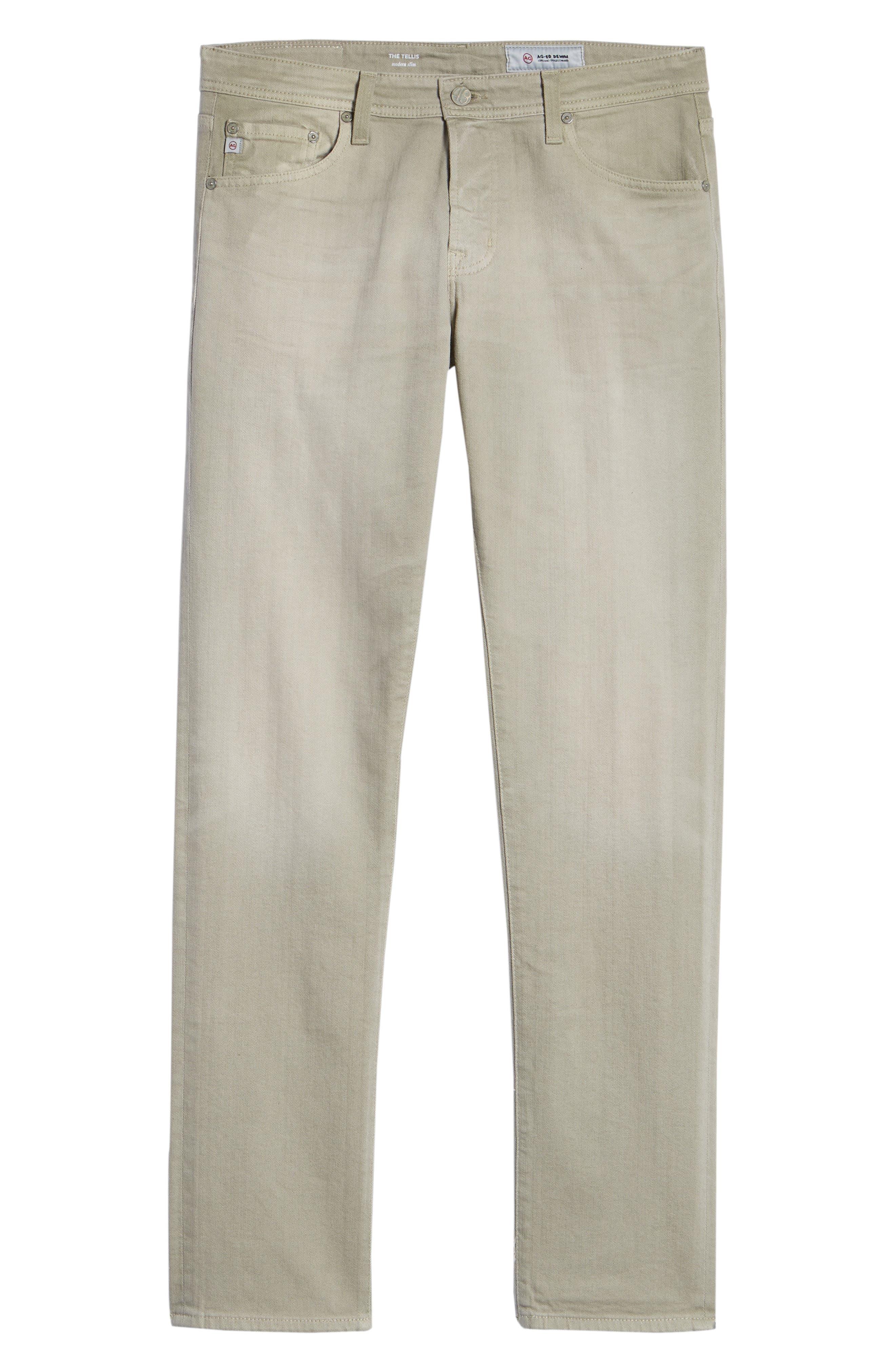 Tellis Slim Leg Twill Pants,                             Alternate thumbnail 6, color,                             7 Years Sand Beige