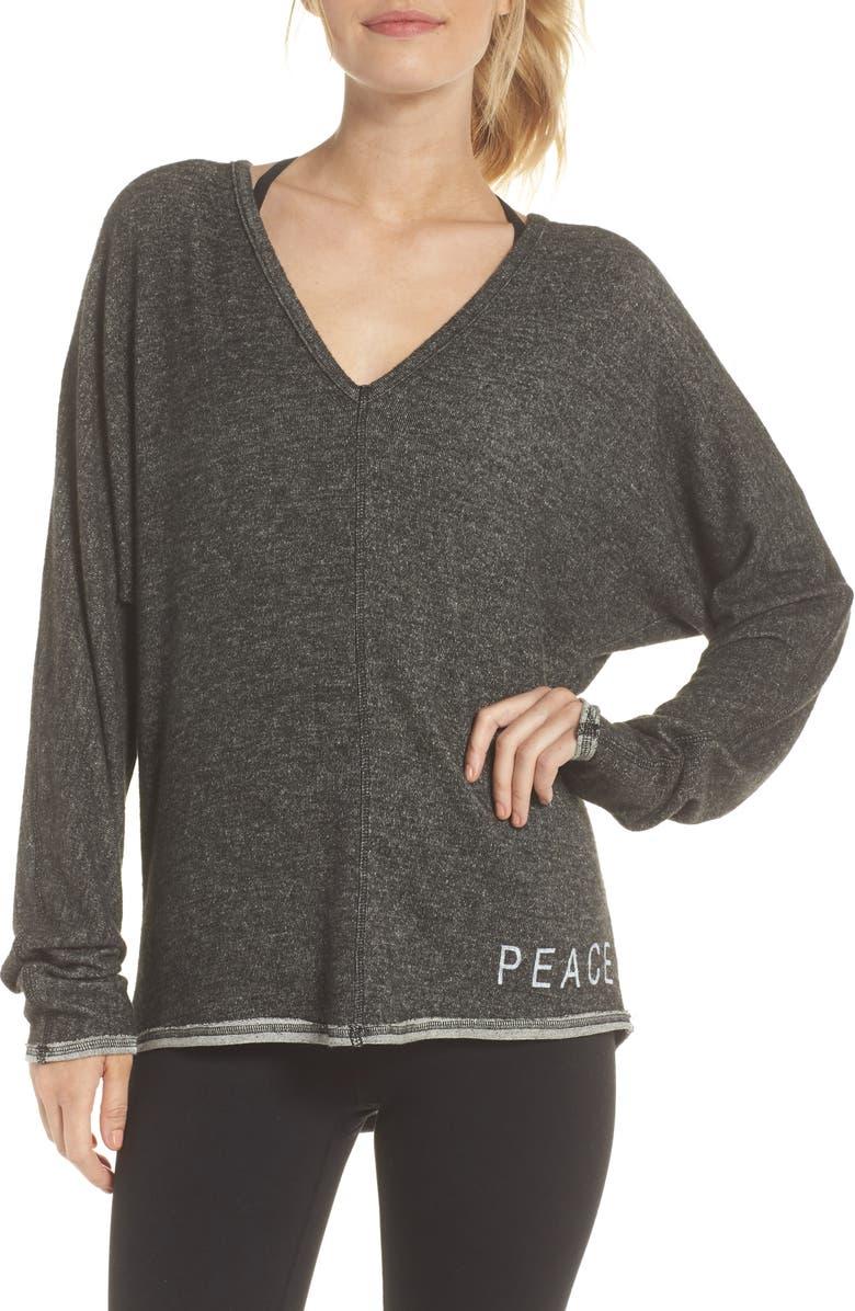 Peace  Love Pullover Sweater