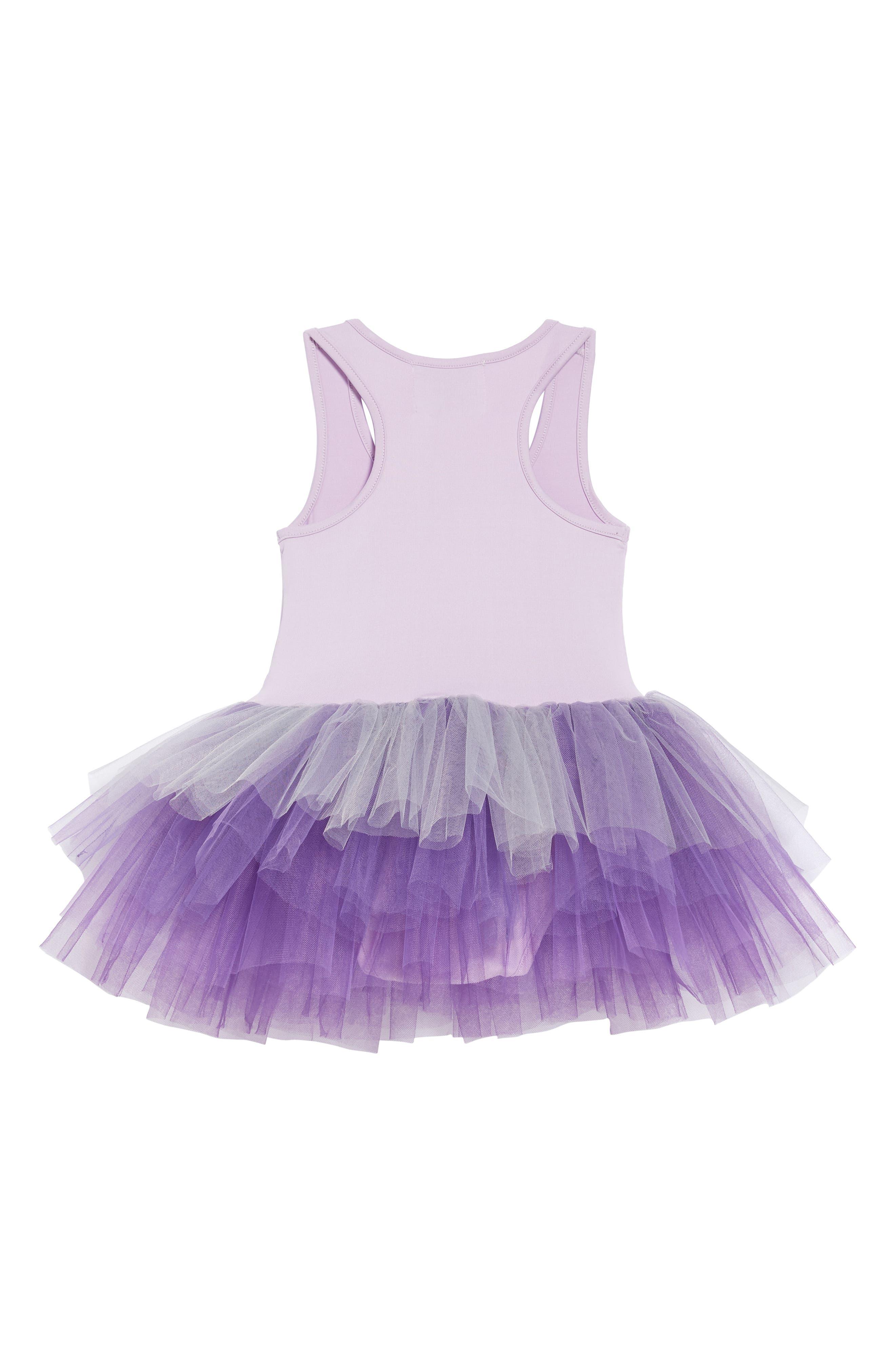 Tutu Dress,                             Alternate thumbnail 2, color,                             Ombre Purple
