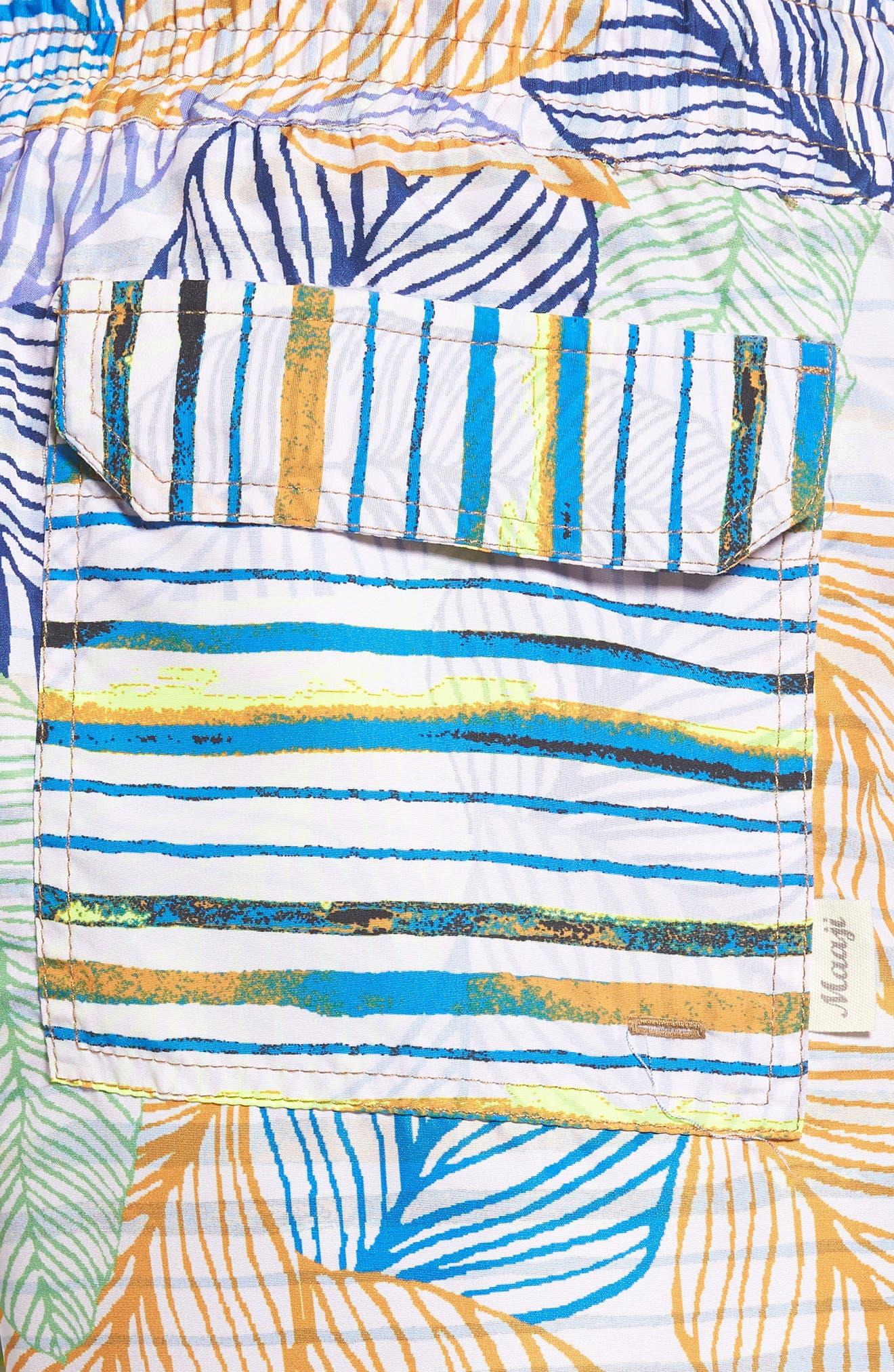 Blue Sky Reversible Swim Trunks,                             Alternate thumbnail 4, color,                             Multicolor
