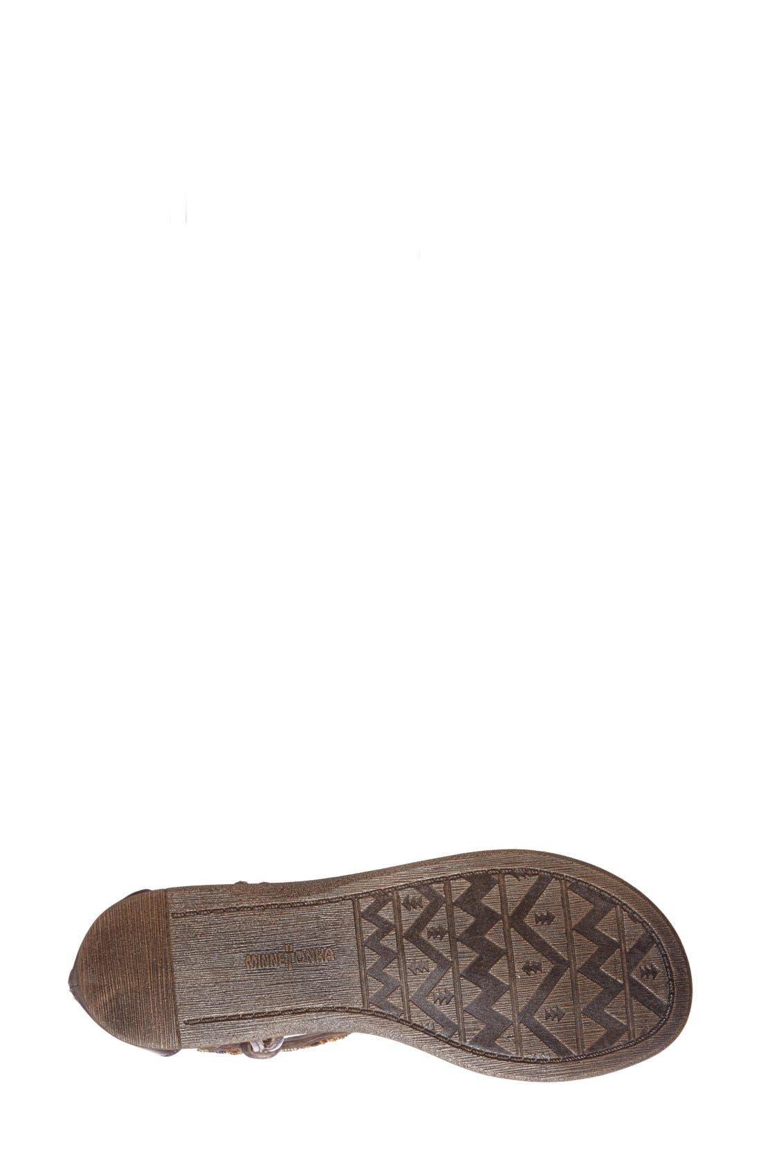 Alternate Image 4  - Minnetonka 'Antigua' Beaded Thong Sandal (Women)