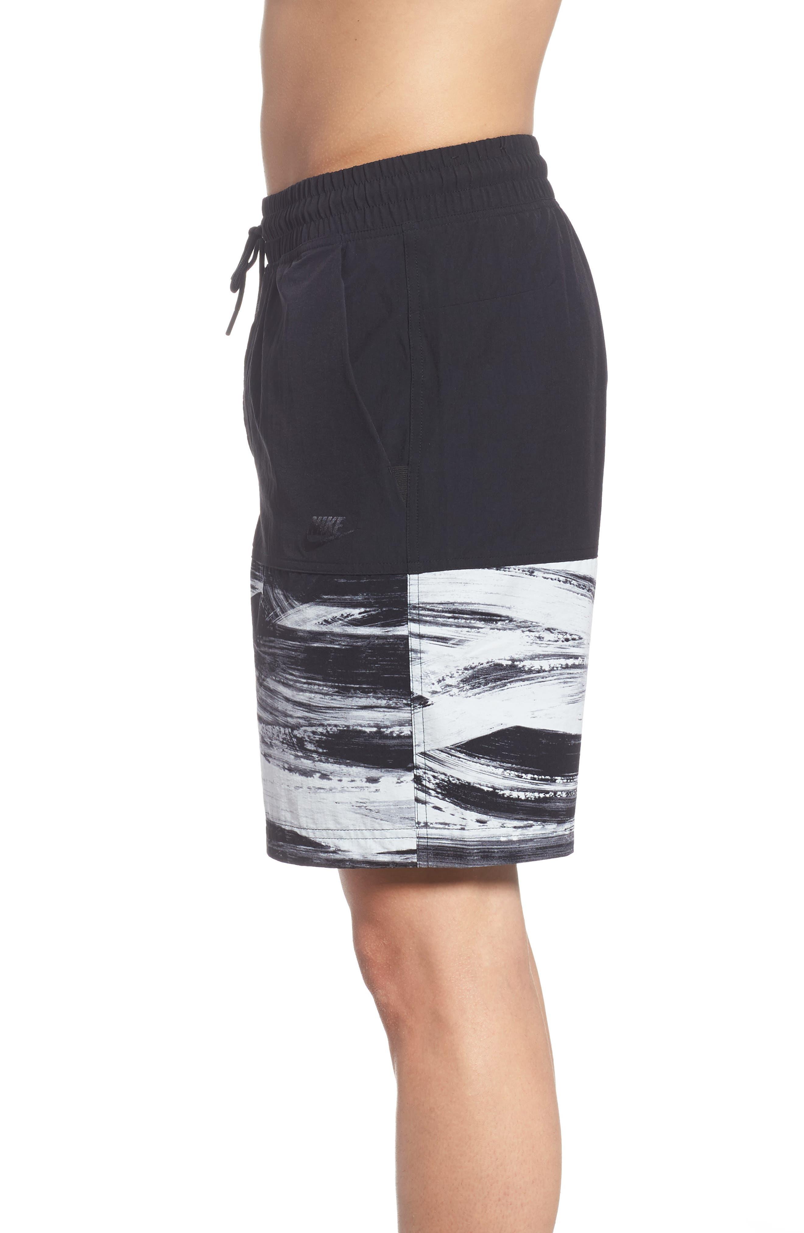 NSW Franchise GX1 Shorts,                             Alternate thumbnail 3, color,                             Black/ Black