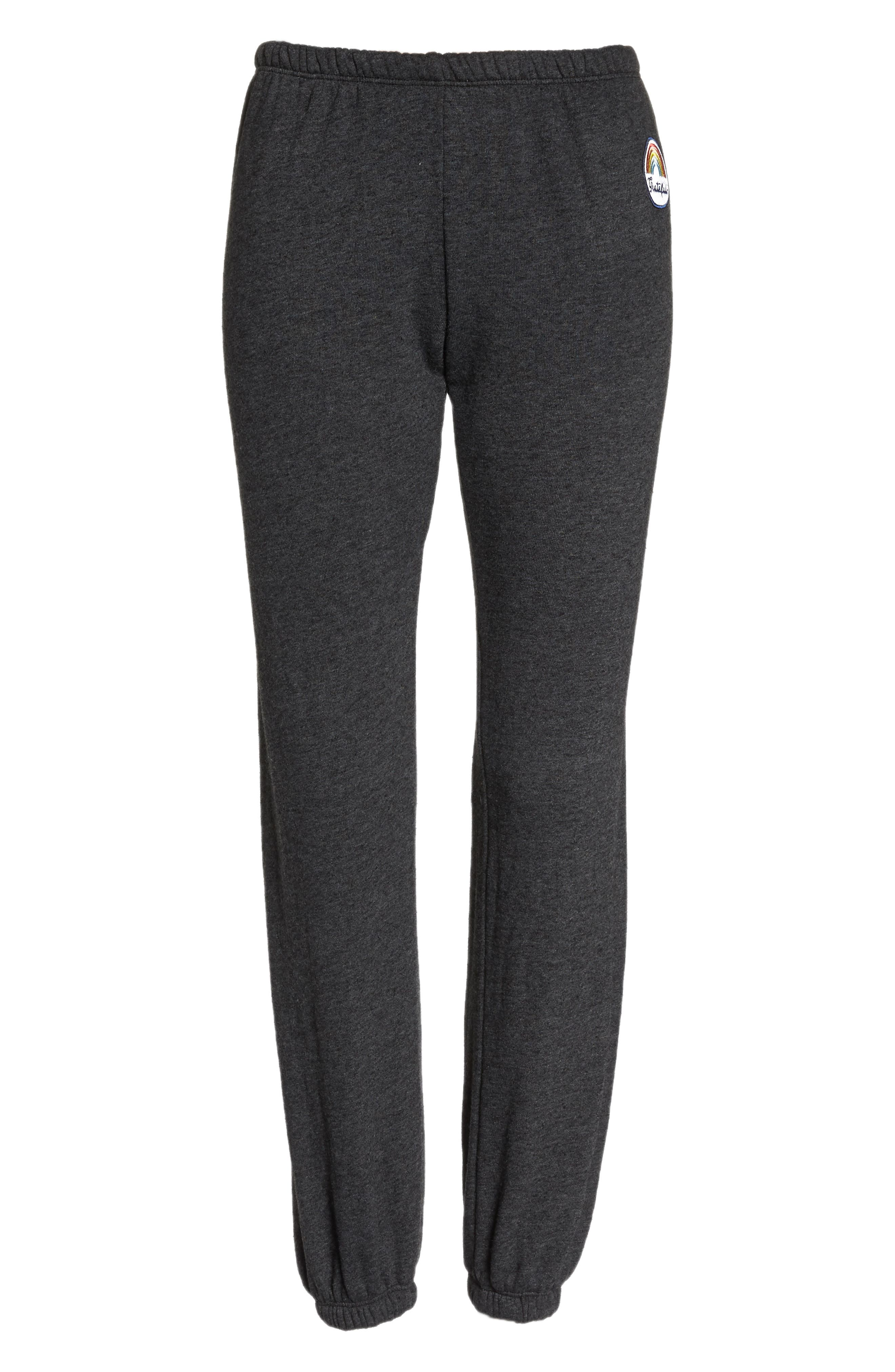 Grateful Perfect Knit Pants,                             Alternate thumbnail 7, color,                             Vntg Black