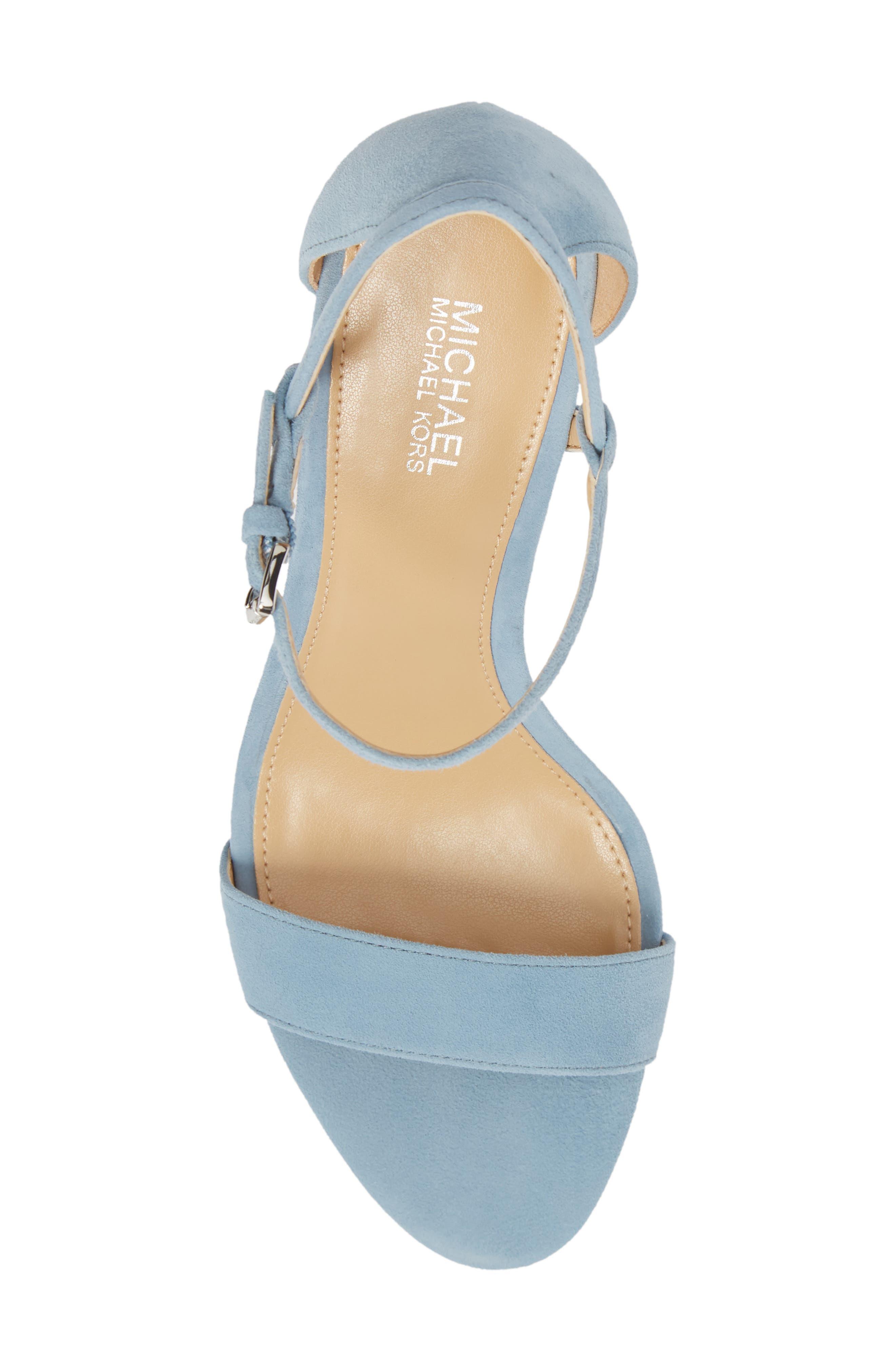 'Simone' Sandal,                             Alternate thumbnail 5, color,                             Powder Blue Suede