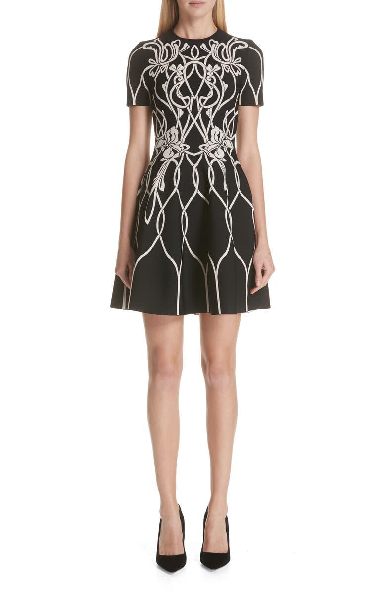 Art Nouveau Jacquard Knit Dress