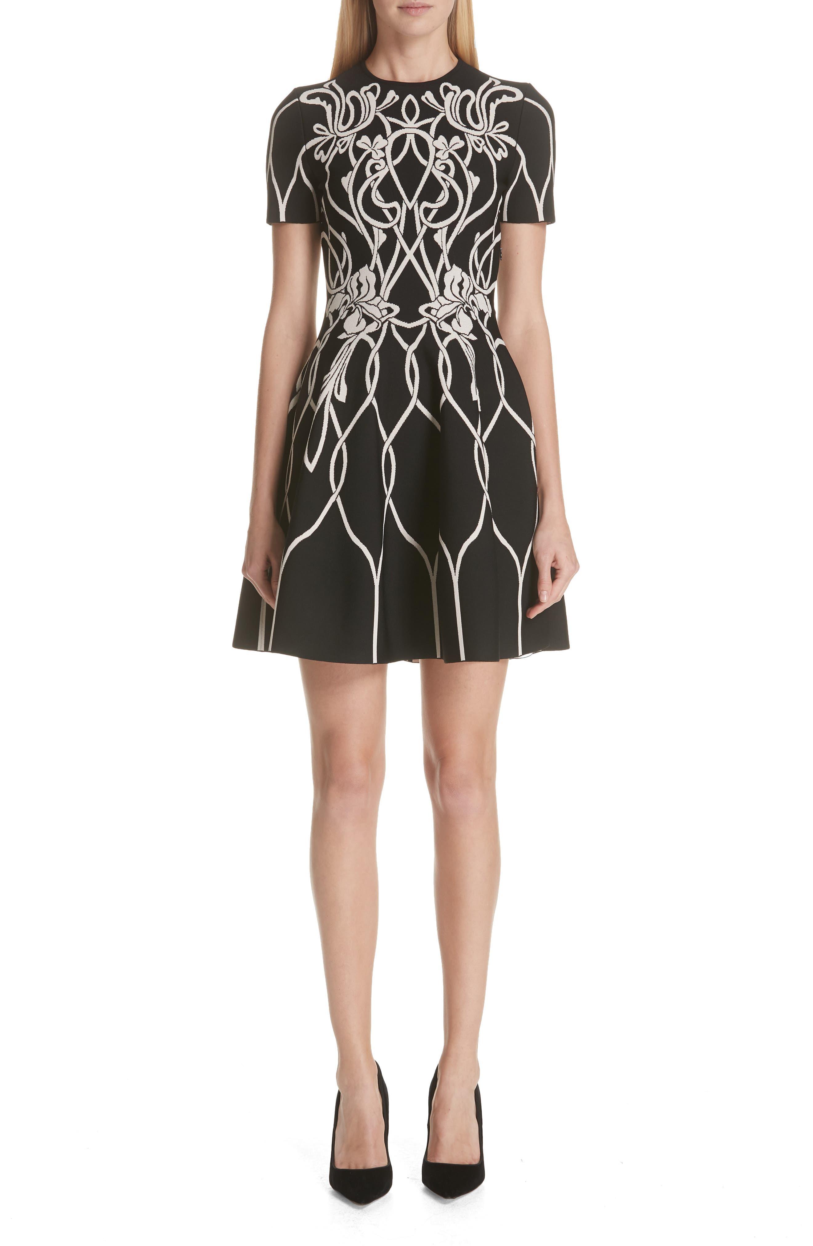Alexander McQueen Art Nouveau Jacquard Knit Dress