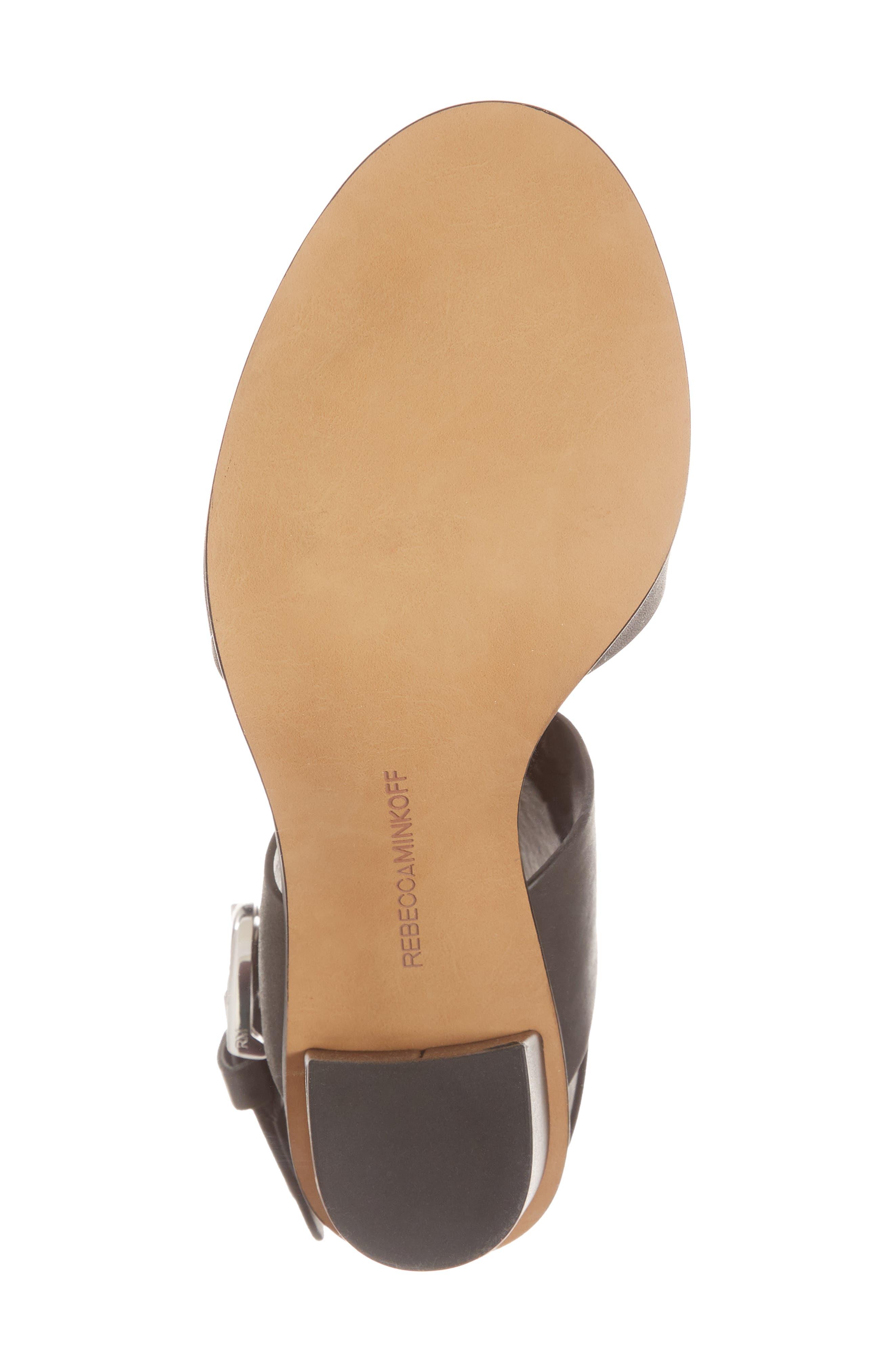 Valaree Sandal,                             Alternate thumbnail 6, color,                             Black Leather