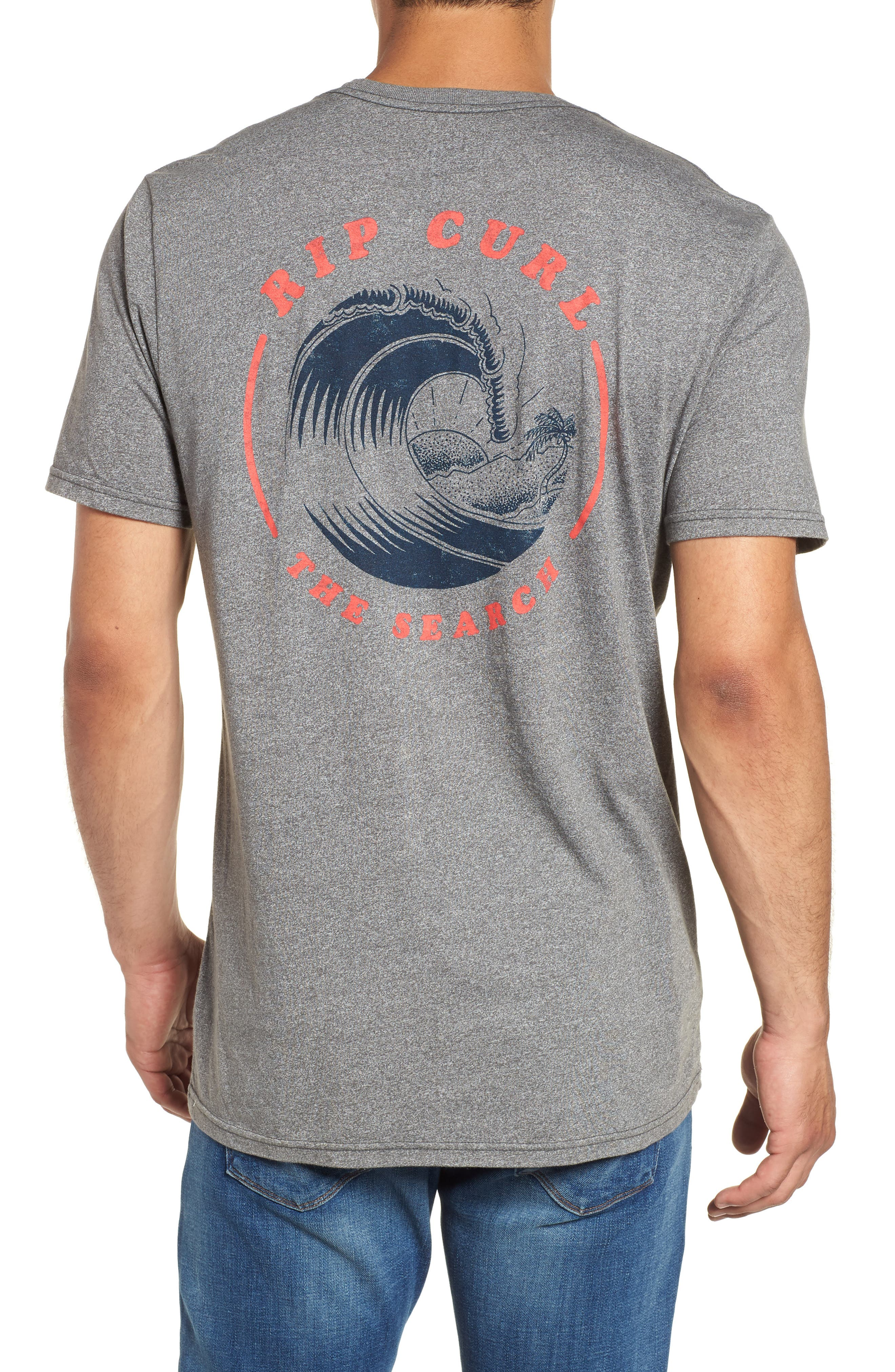 Beach Break Mock Twist T-Shirt,                             Alternate thumbnail 2, color,                             Platinum Heather