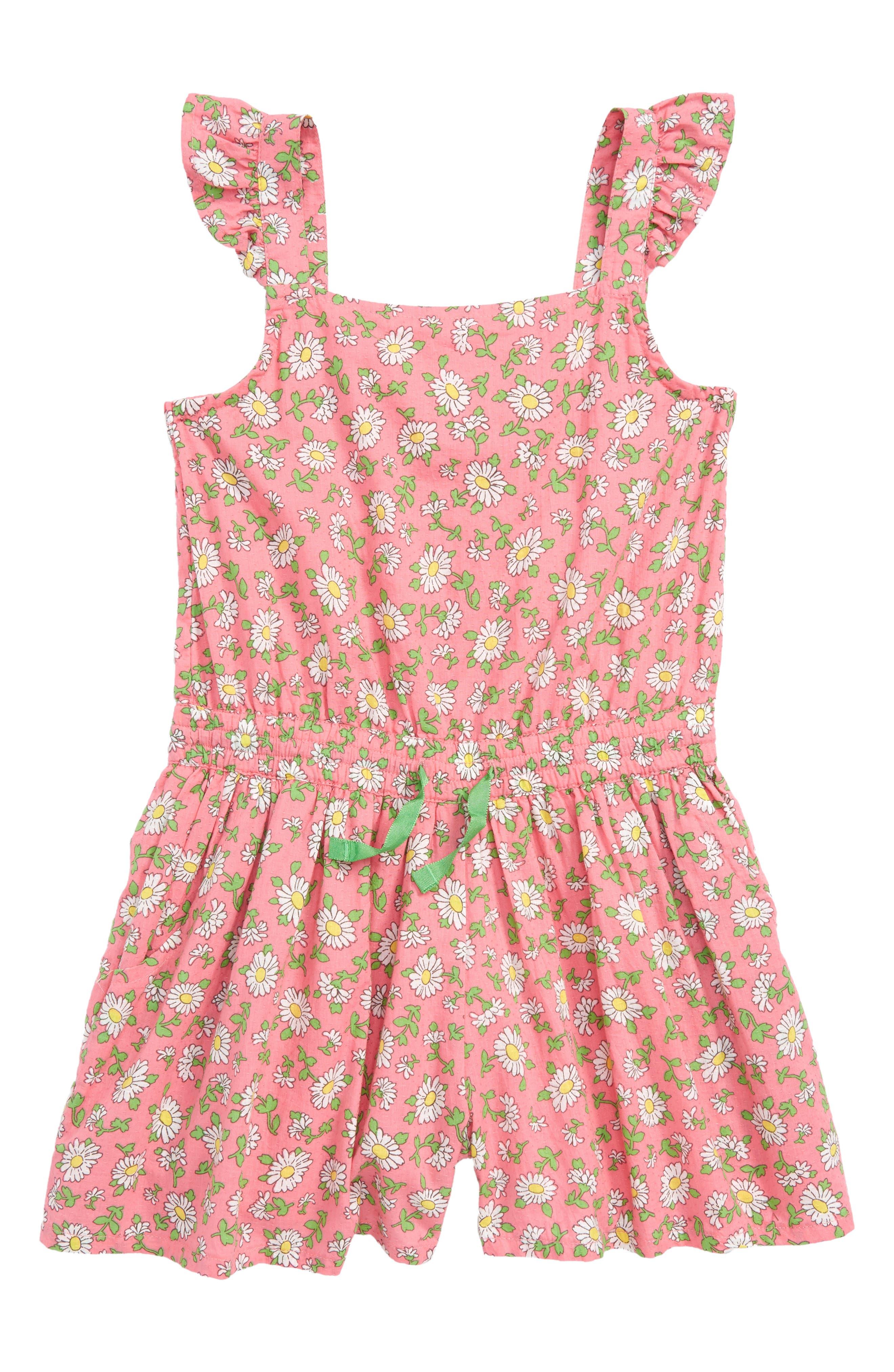 Strappy Woven Romper,                         Main,                         color, Strawberry Vintage Daisy