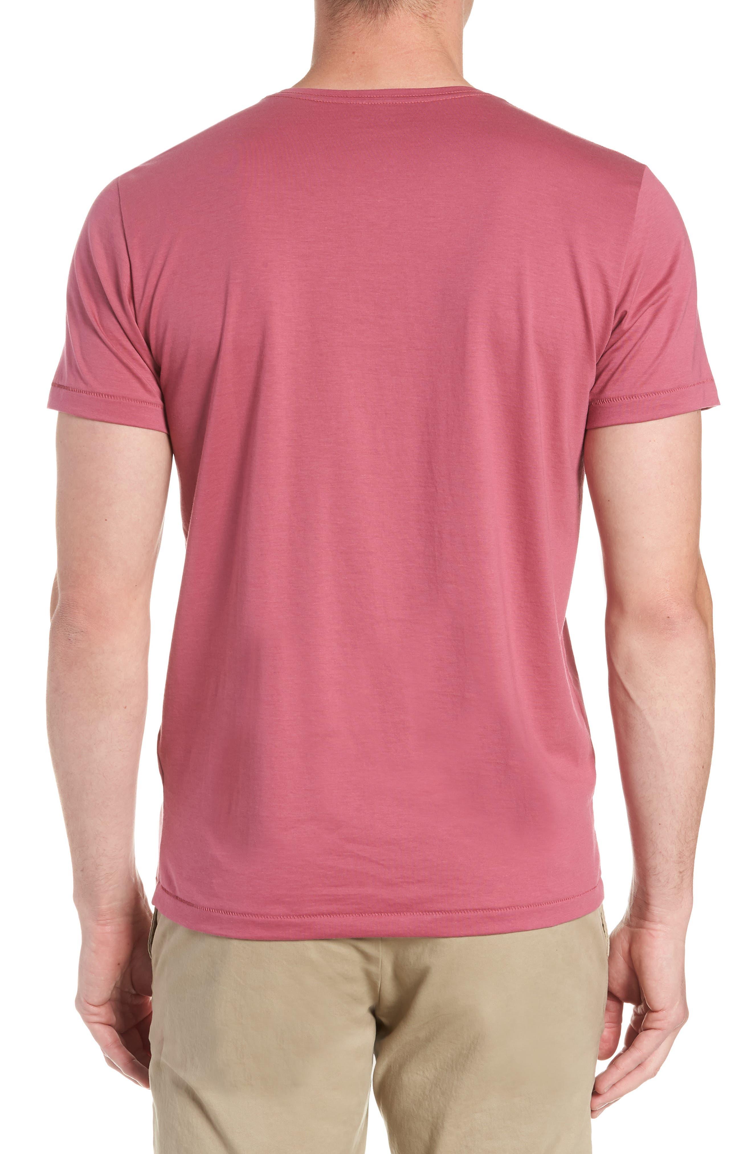 Superfine Henley T-Shirt,                             Alternate thumbnail 2, color,                             Malaga
