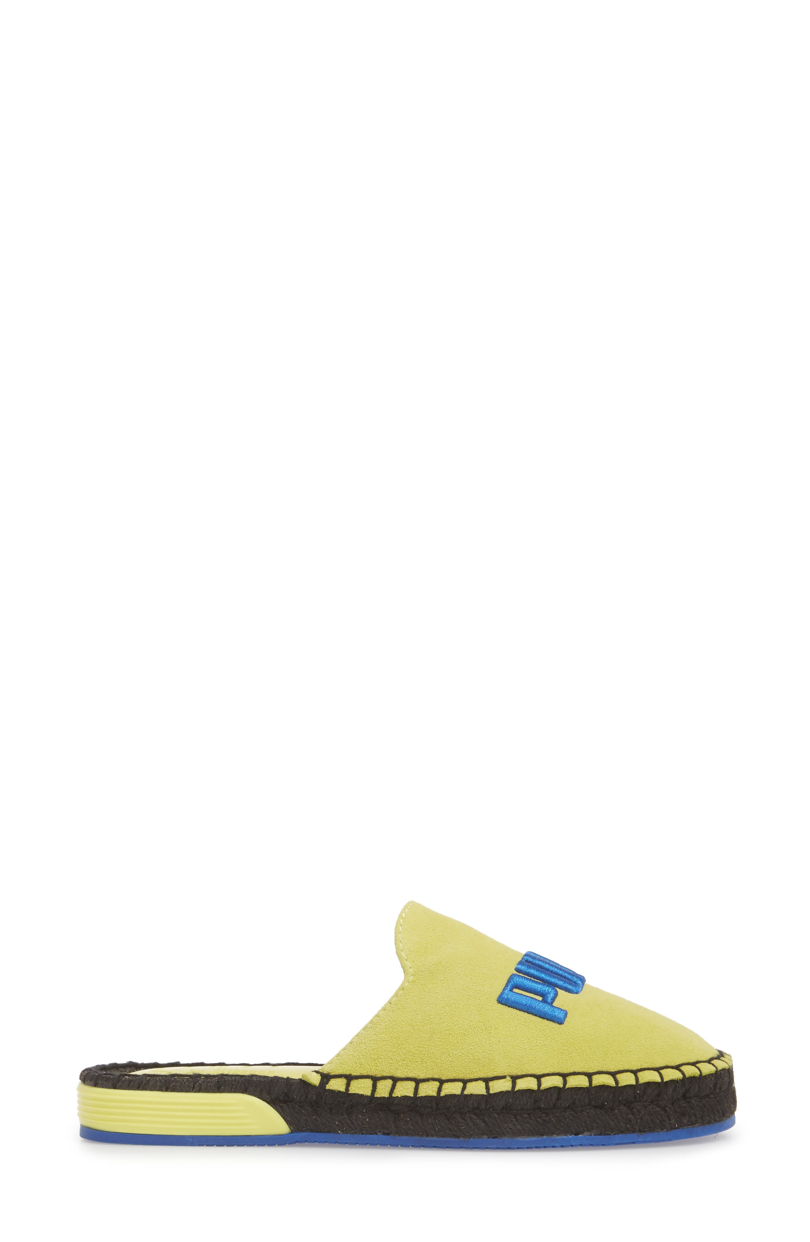 FENTY PUMA by Rihanna Espadrille Flat,                             Alternate thumbnail 3, color,                             Sulphur Spring/ Dazzling Blue
