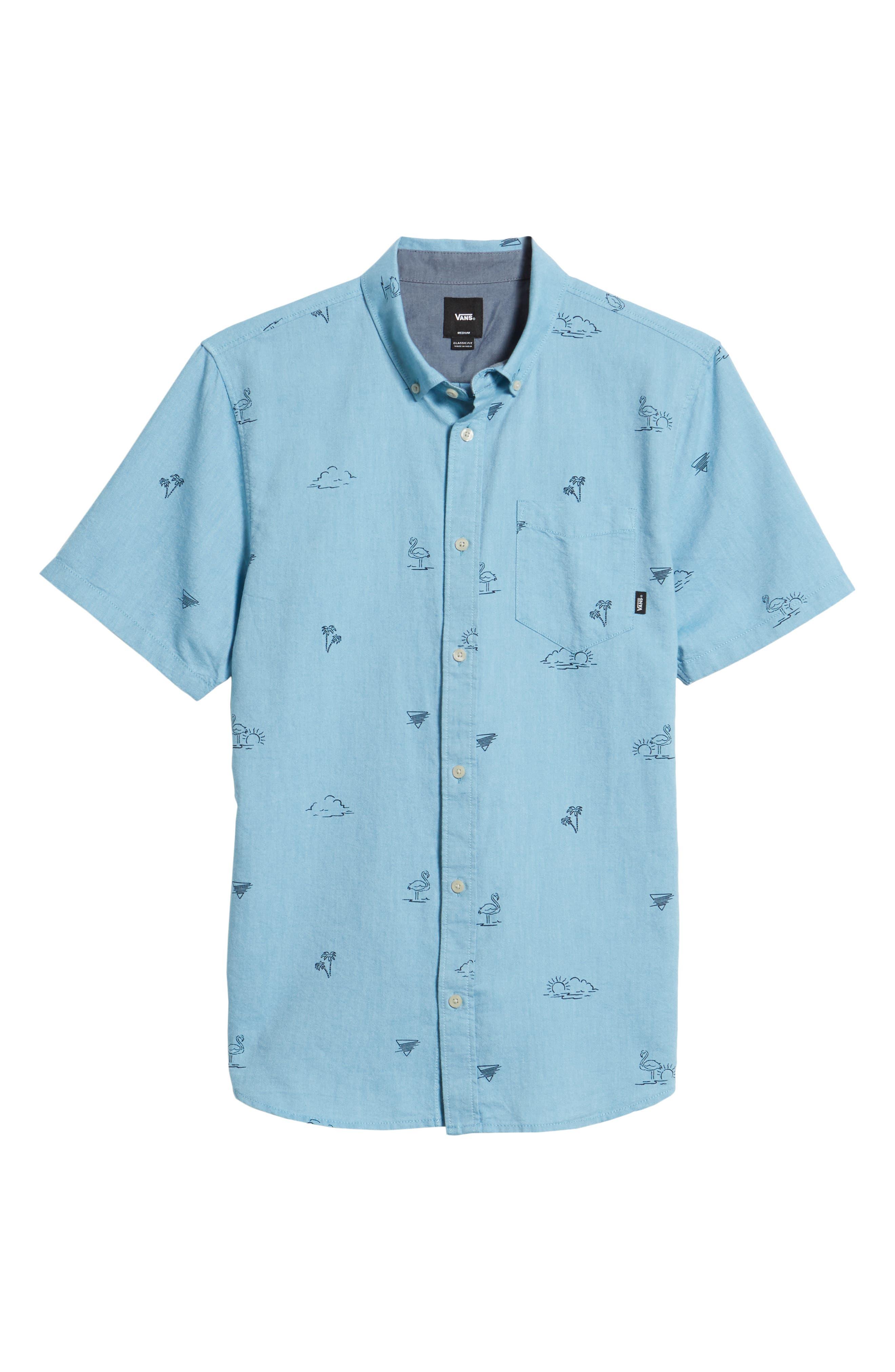 Houser Woven Shirt,                             Alternate thumbnail 6, color,                             Blue Moon Road Trippin