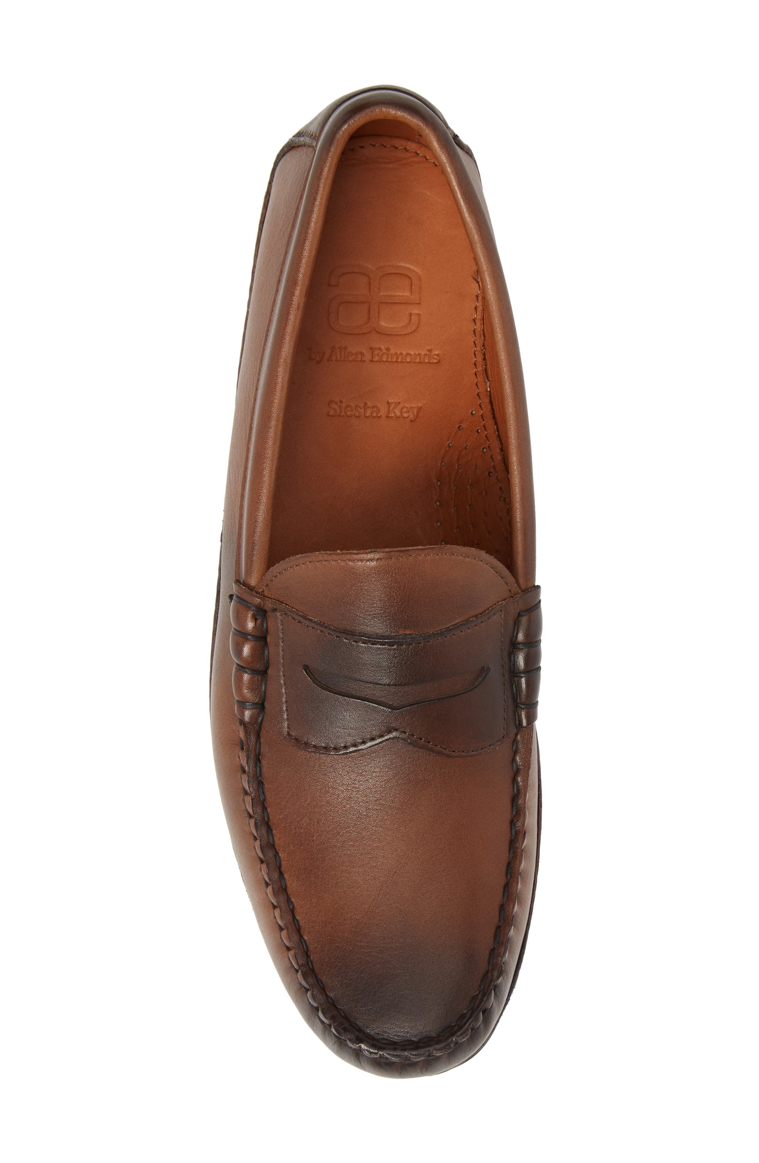 Siesta Key Penny Loafer,                             Alternate thumbnail 5, color,                             Brown Leather