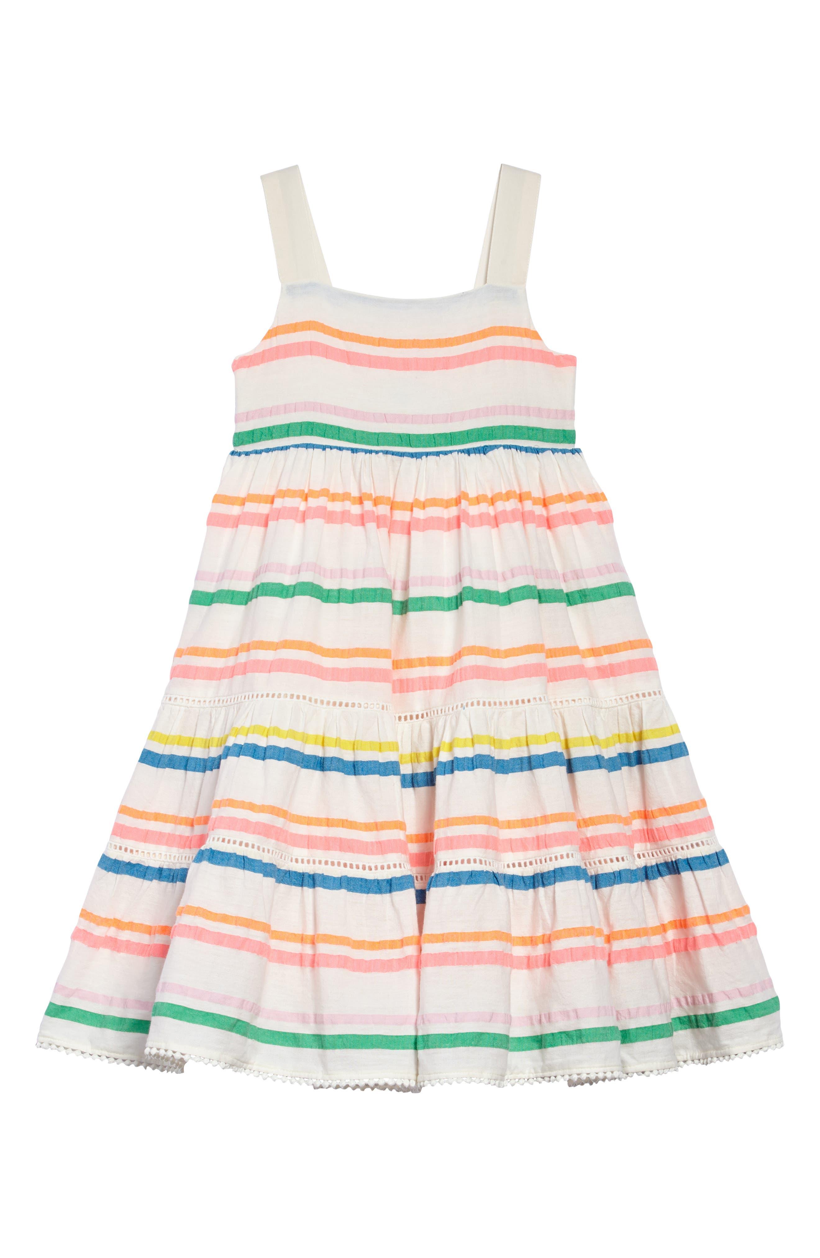 Twirly Tiered Dress,                         Main,                         color, Mulneon Rainbow Multistripe