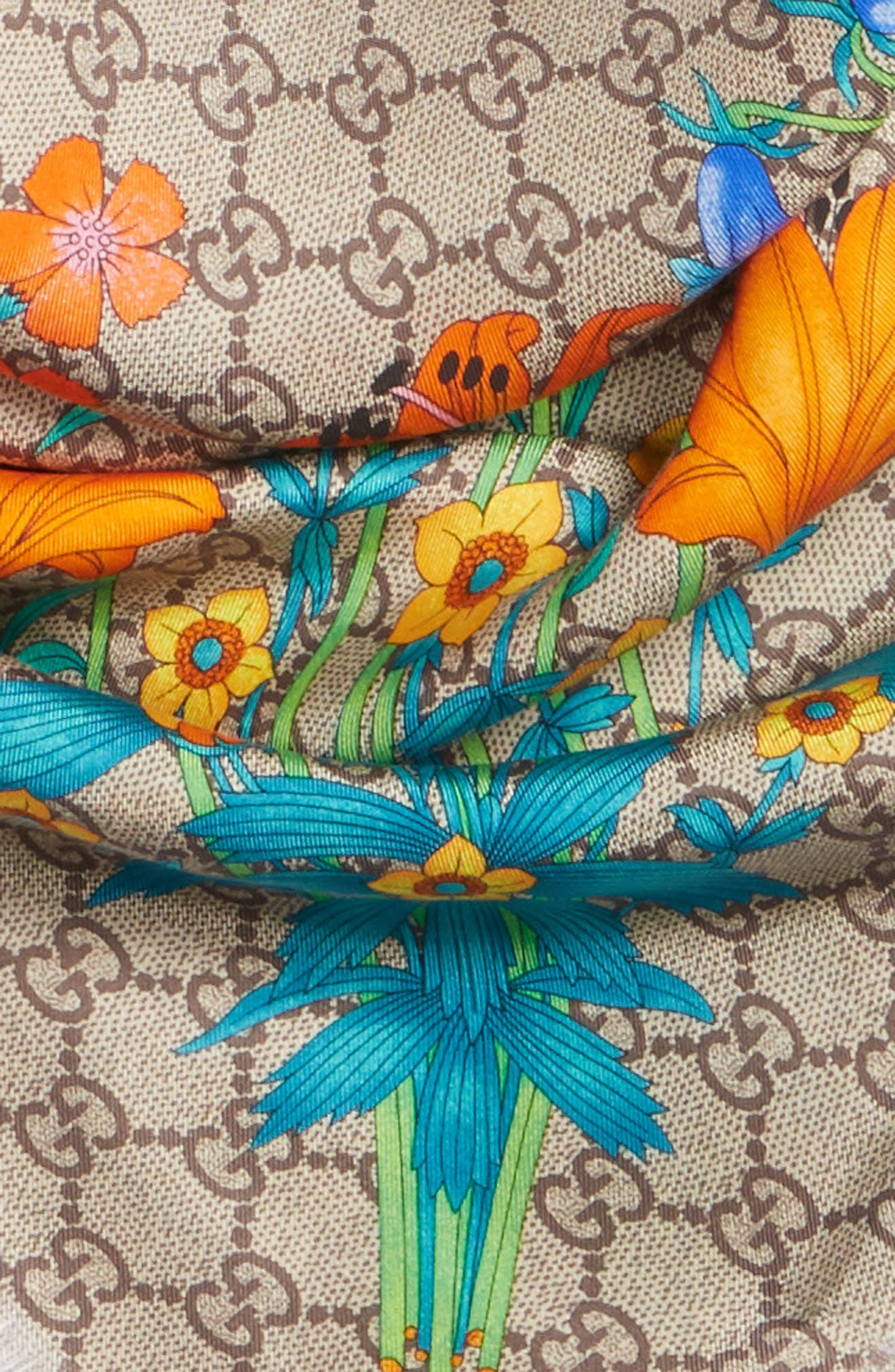 GG New Floral Scarf,                             Alternate thumbnail 4, color,                             Multicolor