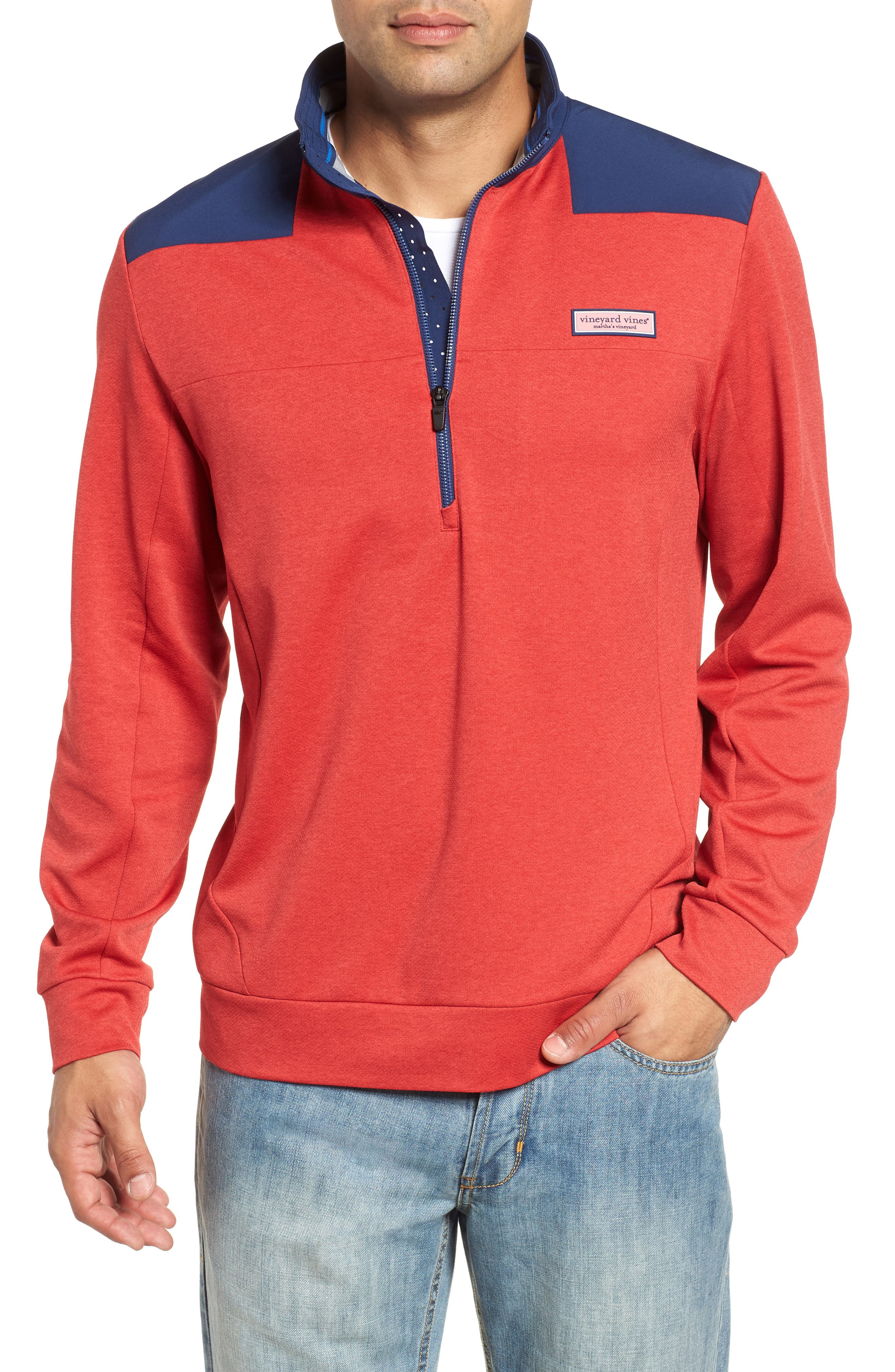 Performance Quarter Zip Pullover,                         Main,                         color, Cuckoo