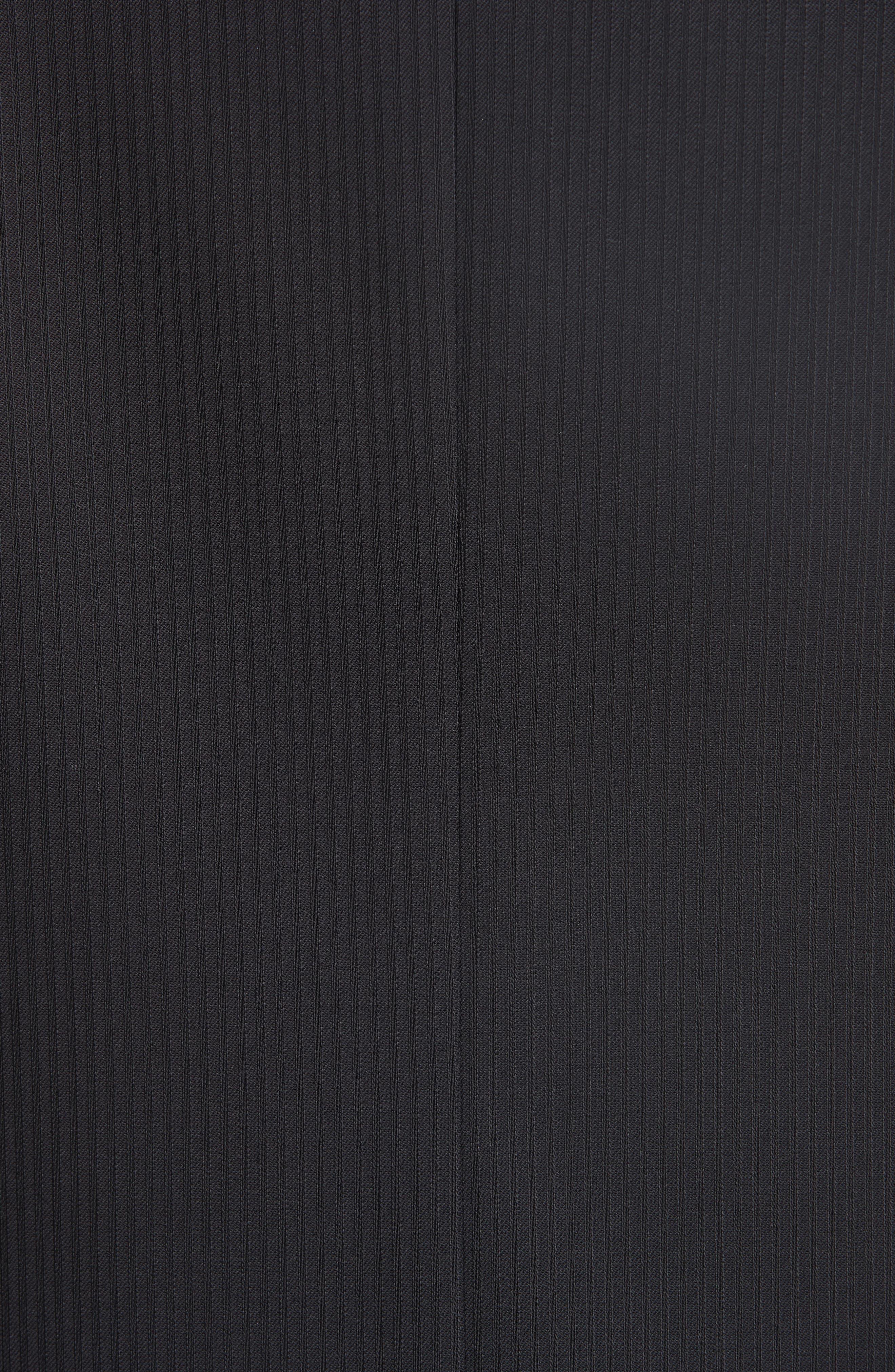 Siena Classic Fit Stripe Wool Suit,                             Alternate thumbnail 6, color,                             Black