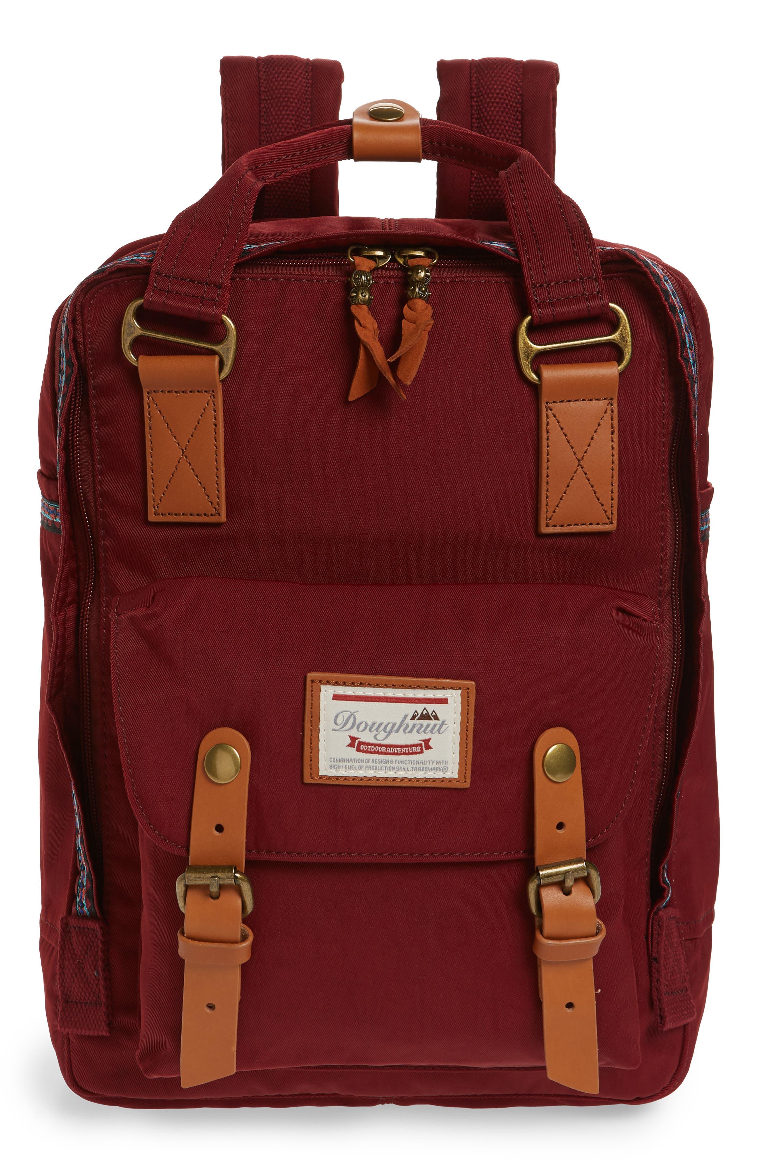 Macaroon Bo-He Water Resistant Backpack,                         Main,                         color, Wine