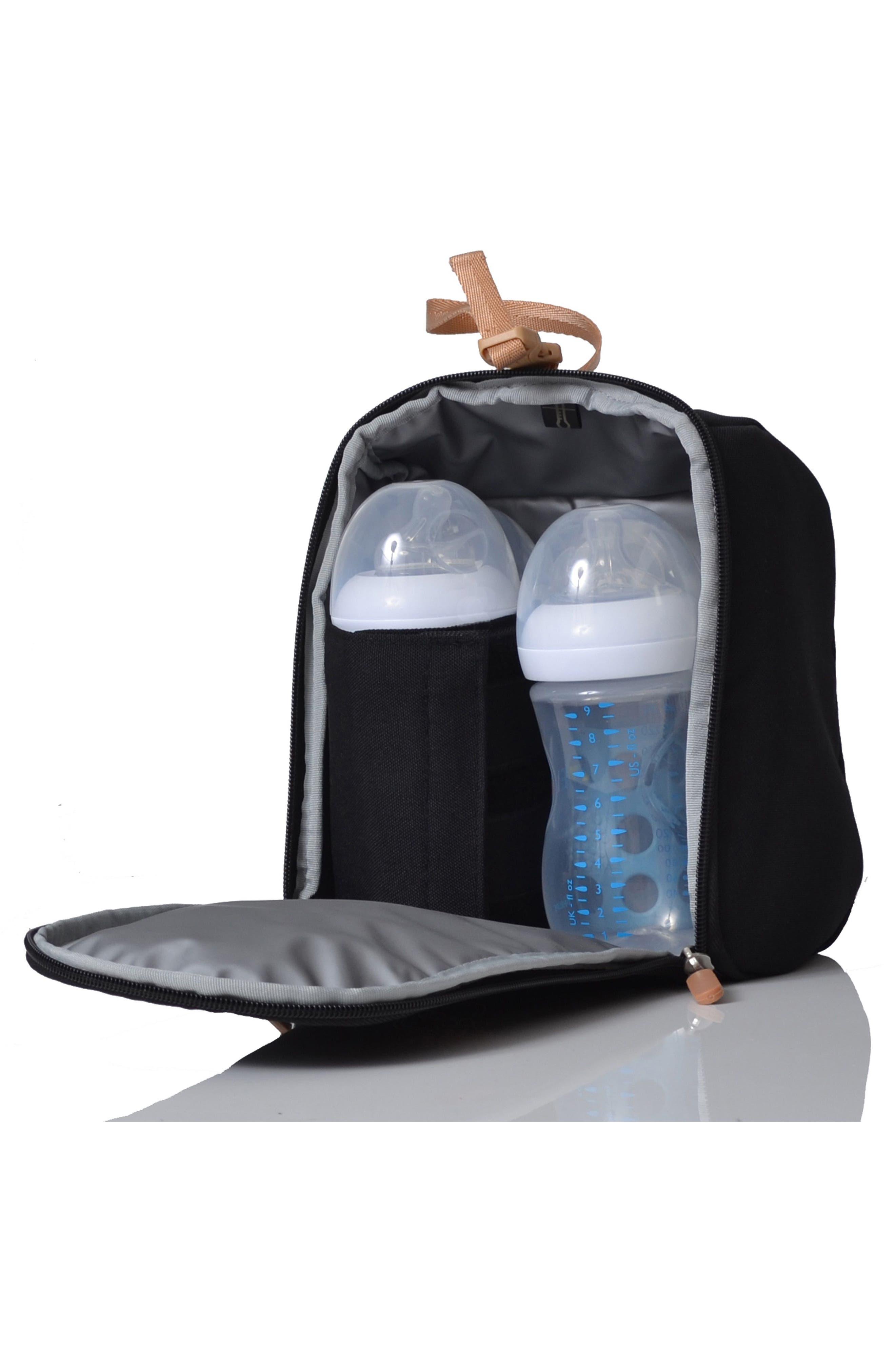 'Mirano' Diaper Bag,                             Alternate thumbnail 5, color,                             Black