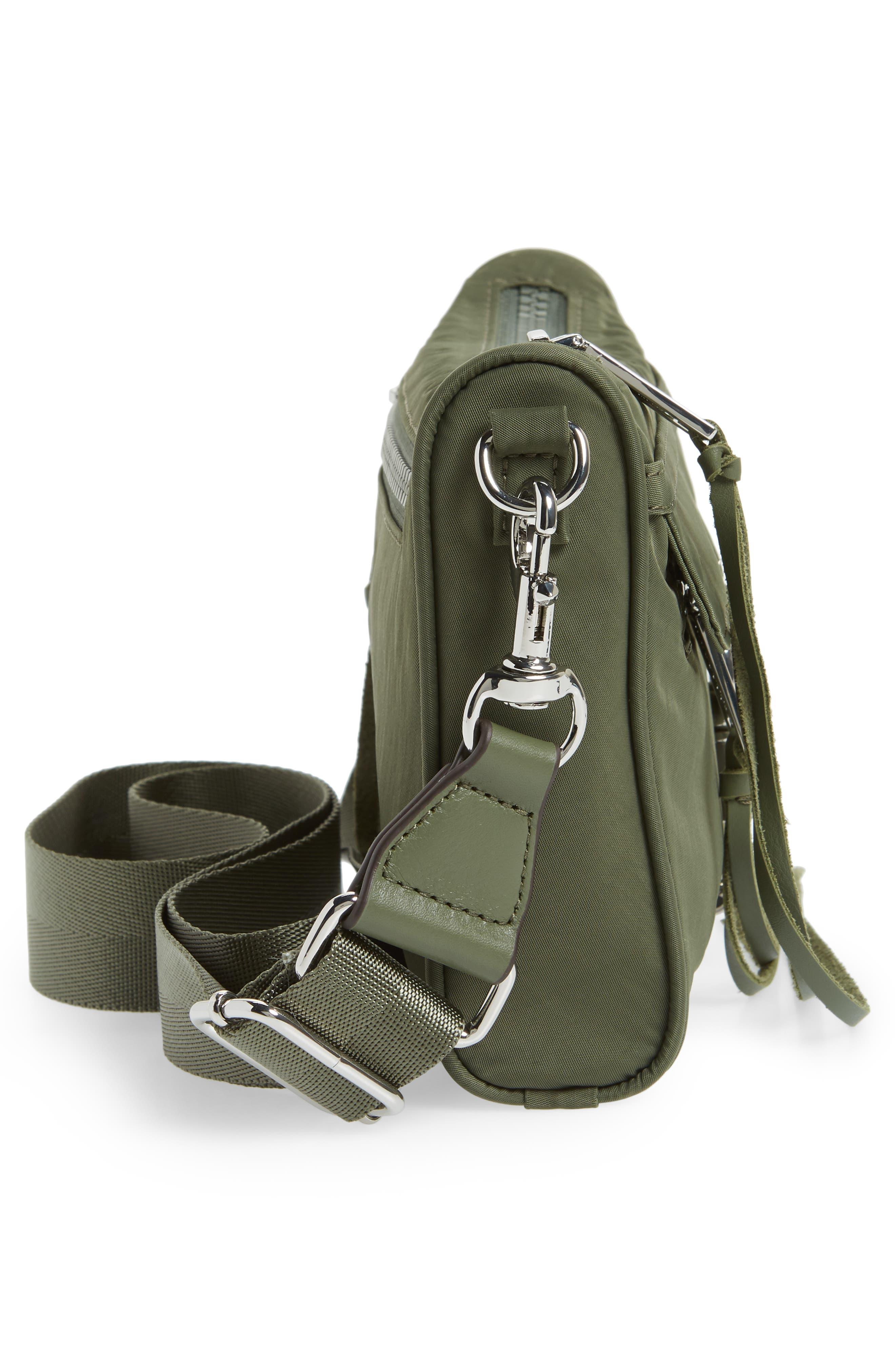 Mini Mac Convertible Crossbody Bag,                             Alternate thumbnail 4, color,                             Olive