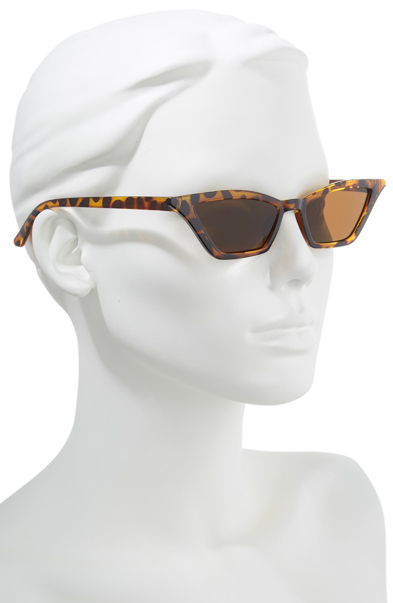50mm Geometric Sunglasses,                             Alternate thumbnail 2, color,                             Tortoise