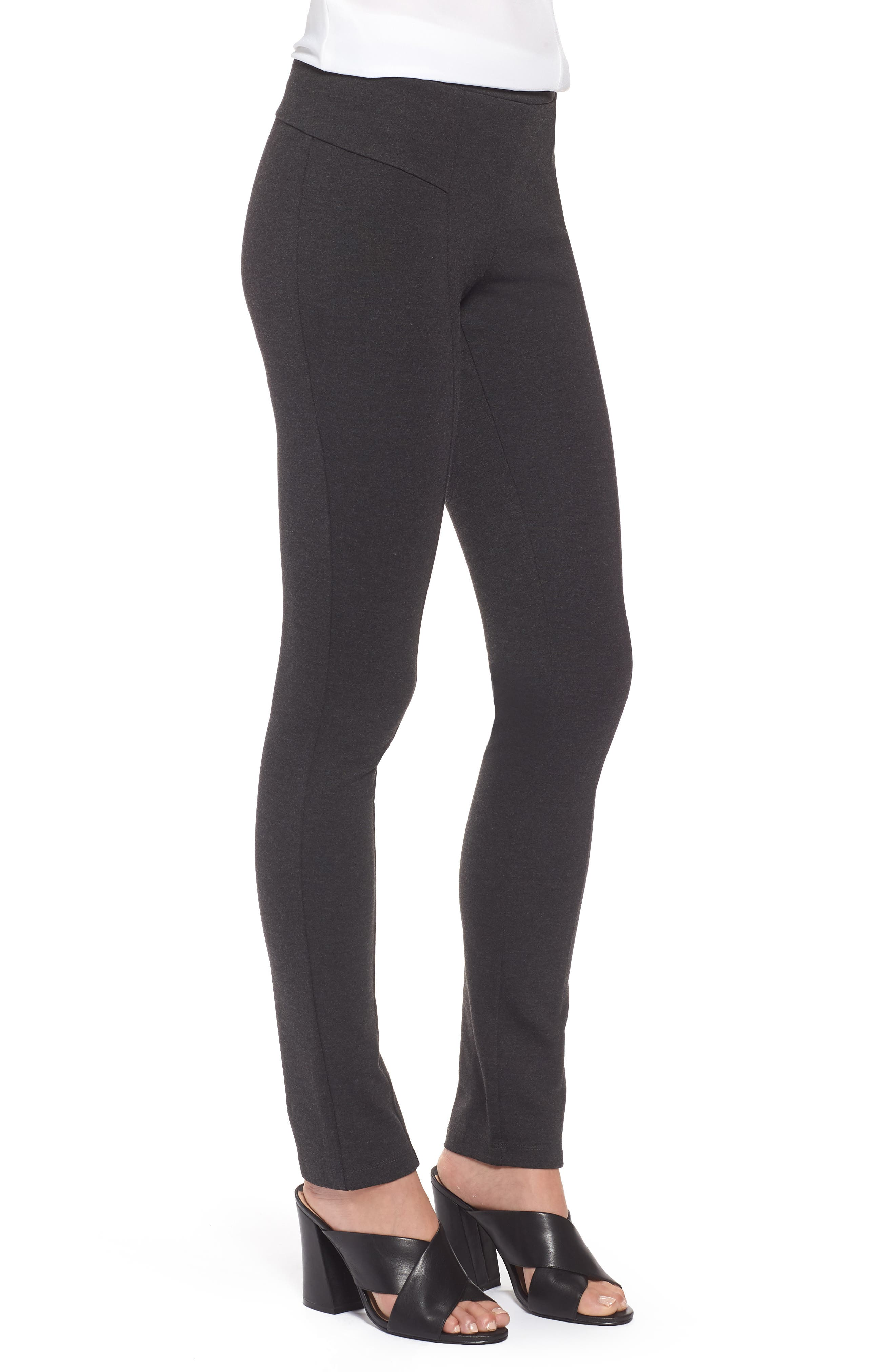 'The Perfect Ponte' Pants,                             Alternate thumbnail 3, color,                             Phantom Heather