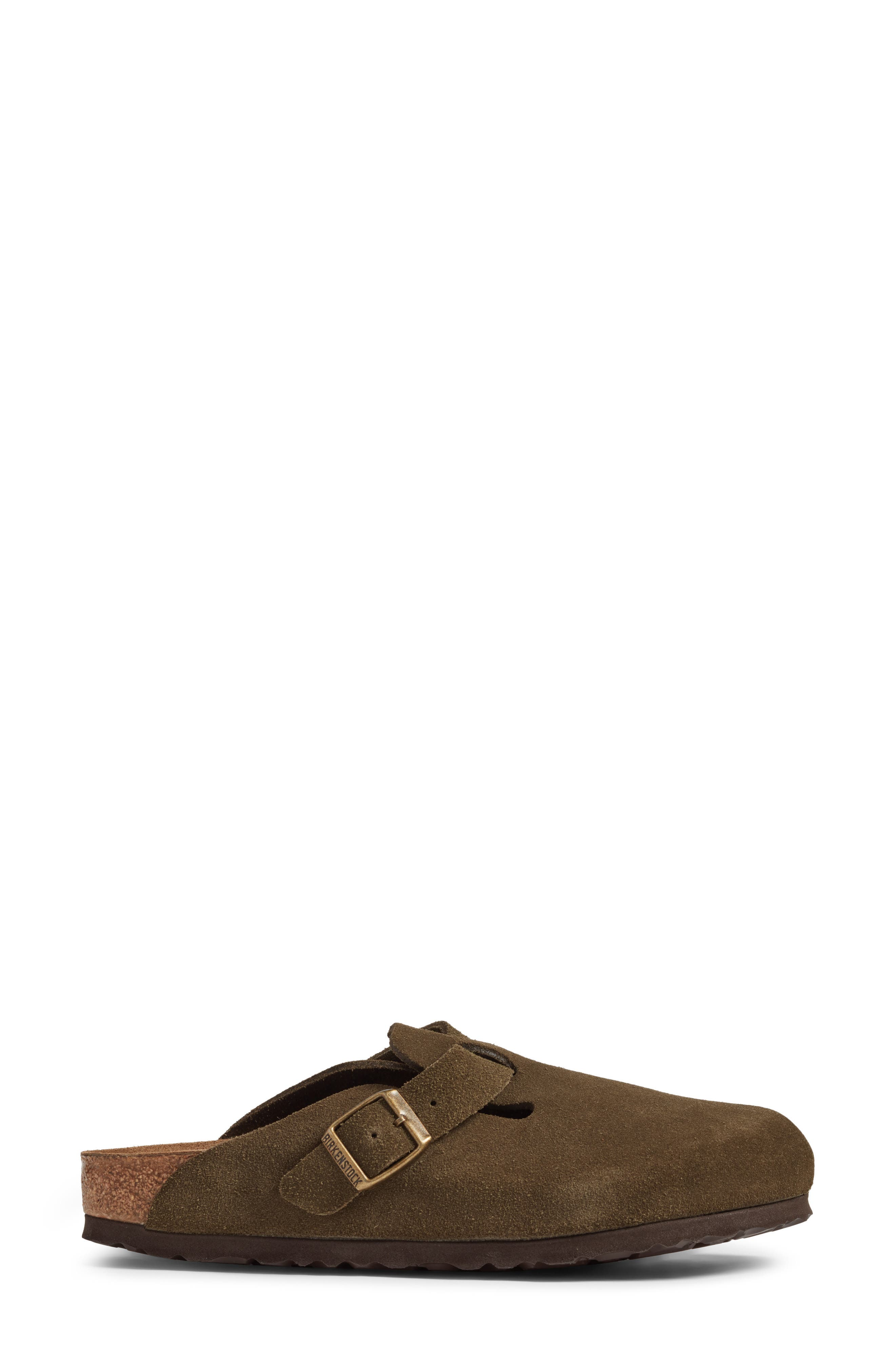 'Boston' Soft Footbed Clog,                             Alternate thumbnail 3, color,                             Forest Suede